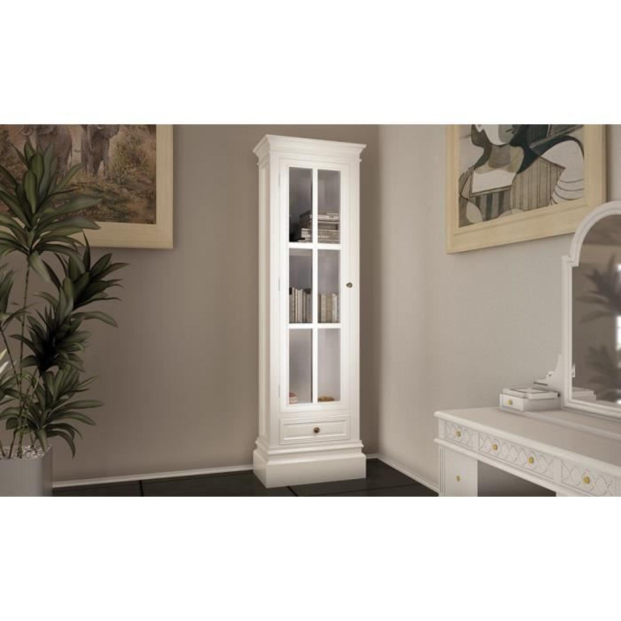 armoire vitrine avec un tiroir achat vente armoire de chambre pas cher couleur et. Black Bedroom Furniture Sets. Home Design Ideas