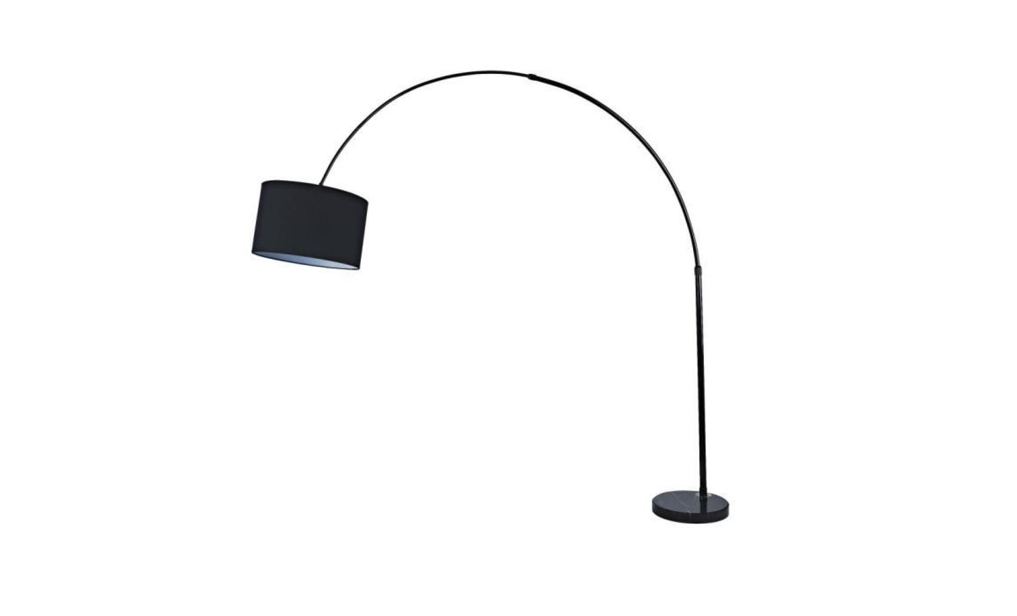 arno lampadaires arc 195 cm noir achat vente lampadaire. Black Bedroom Furniture Sets. Home Design Ideas