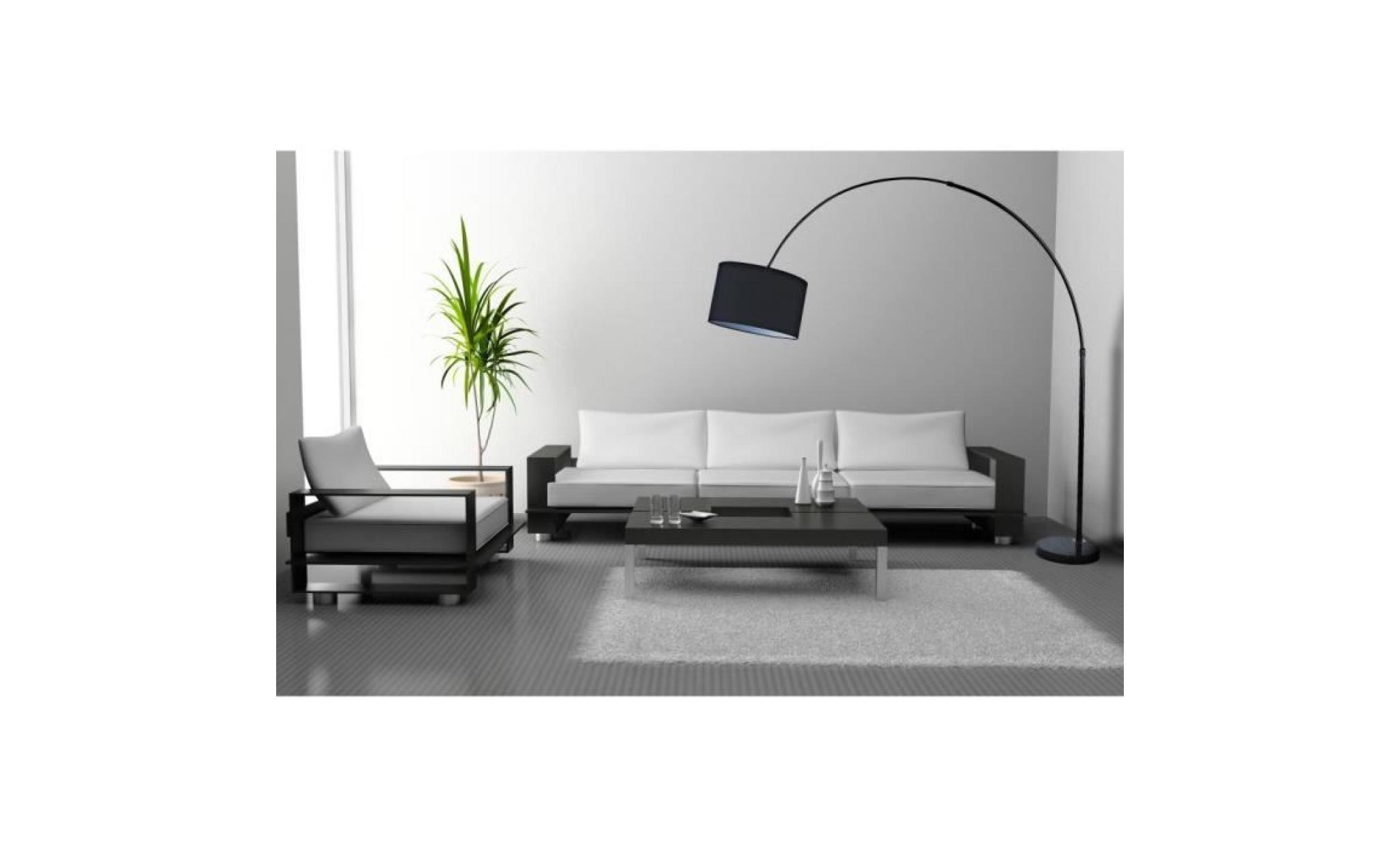 arno lampadaires arc 195 cm noir achat vente lampadaire pas cher couleur et. Black Bedroom Furniture Sets. Home Design Ideas