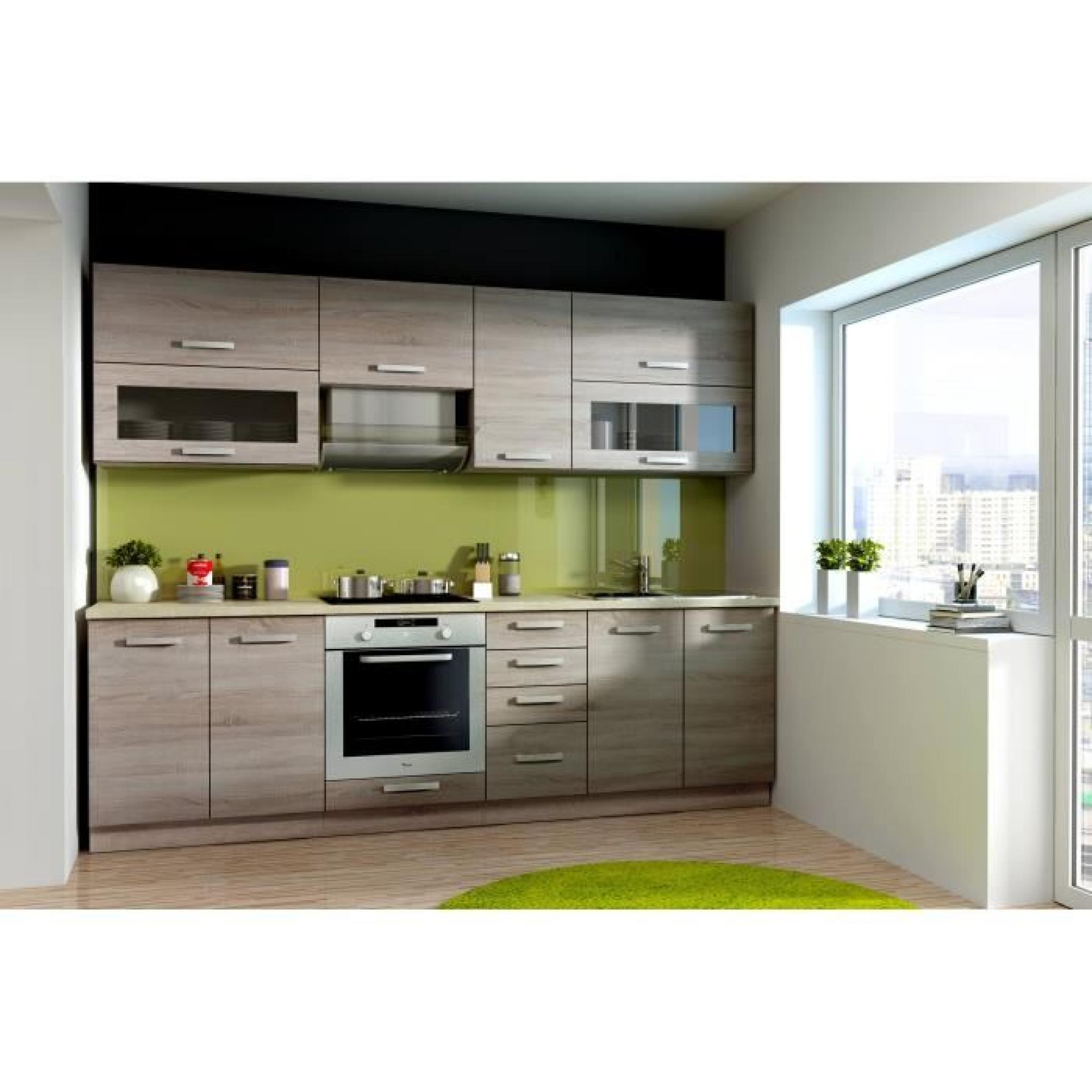lassen cuisine compl te 2m60 d cor ch ne sonoma achat vente cuisine complete pas cher. Black Bedroom Furniture Sets. Home Design Ideas