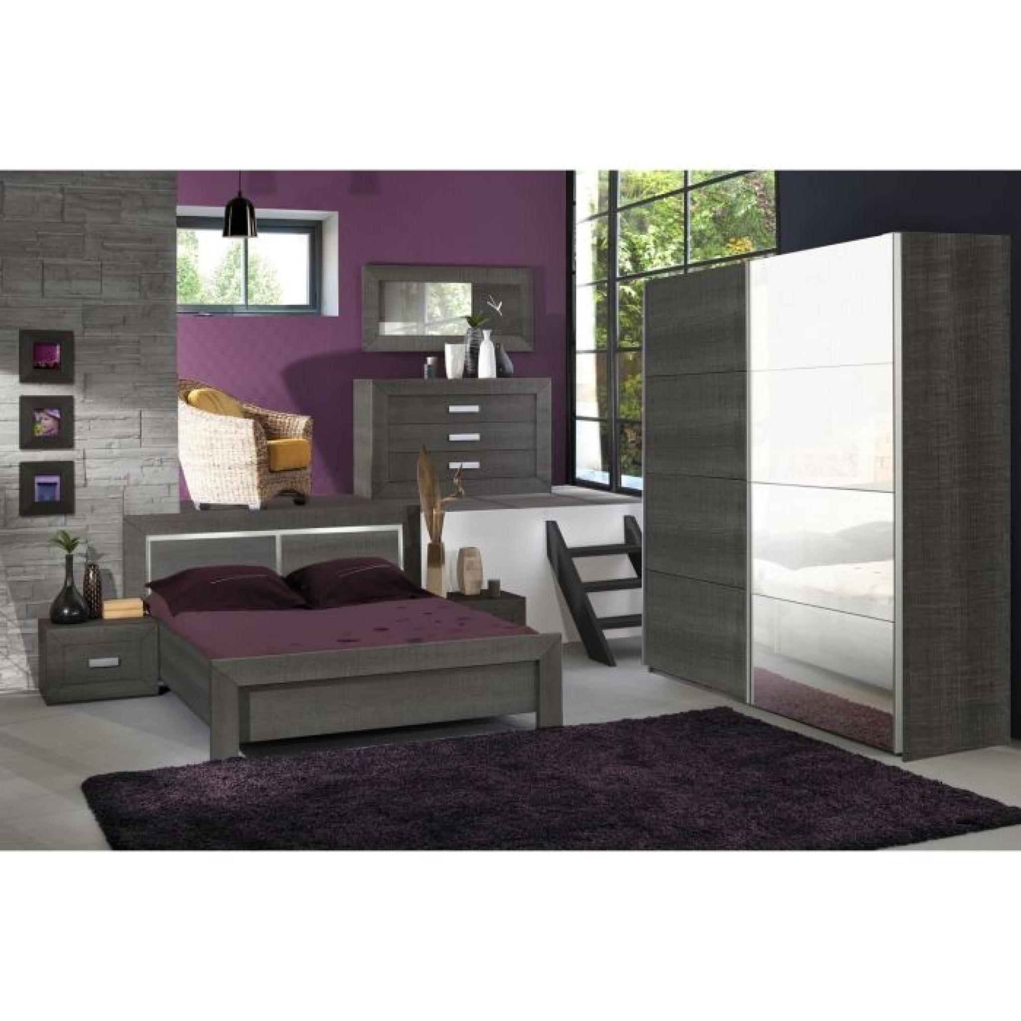 avignon chambre compl te adulte 160cm achat vente chambre complete pas cher couleur et. Black Bedroom Furniture Sets. Home Design Ideas