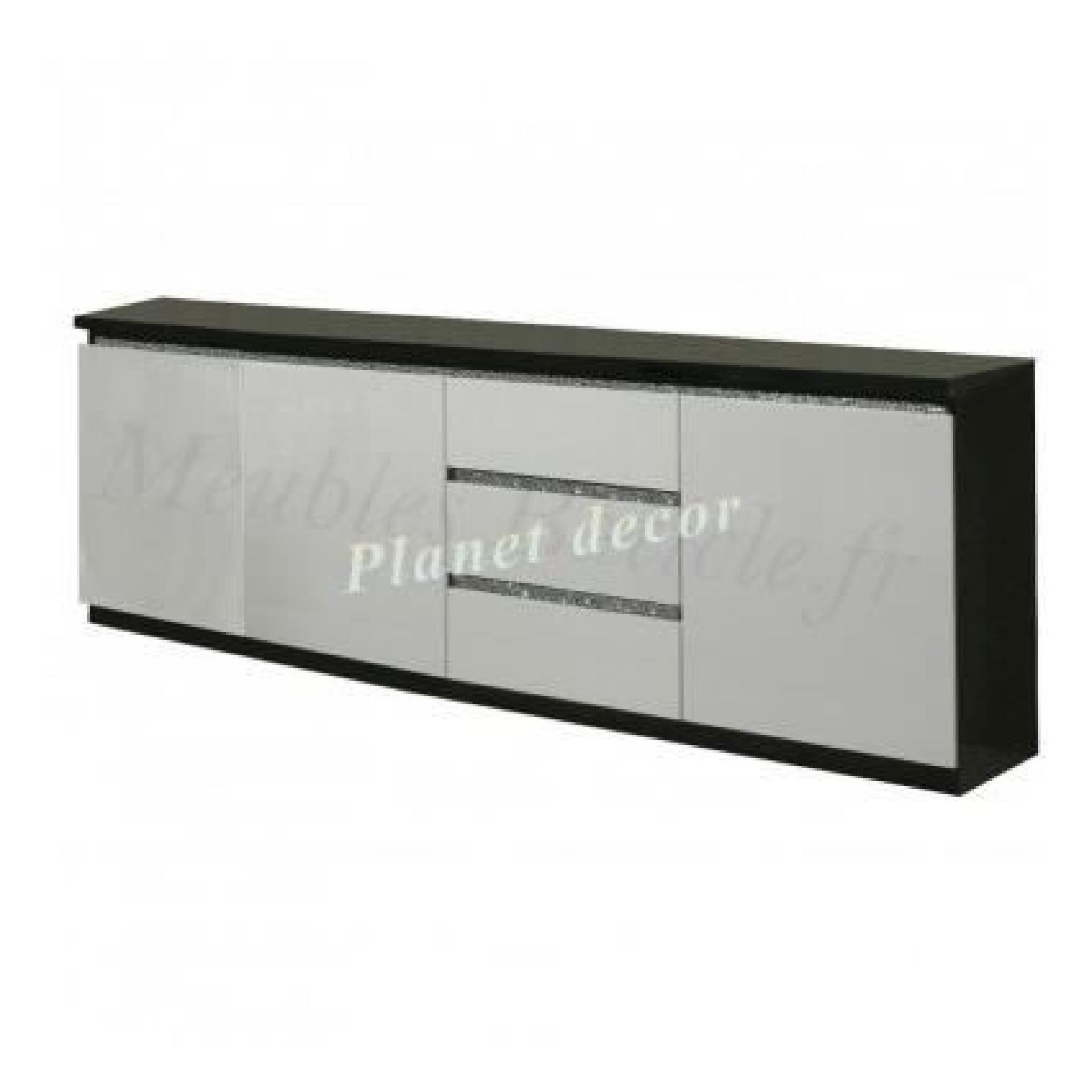 Bahut Blanc Design. Buffet Lumineux Laqu Blanc Design Elda With ...