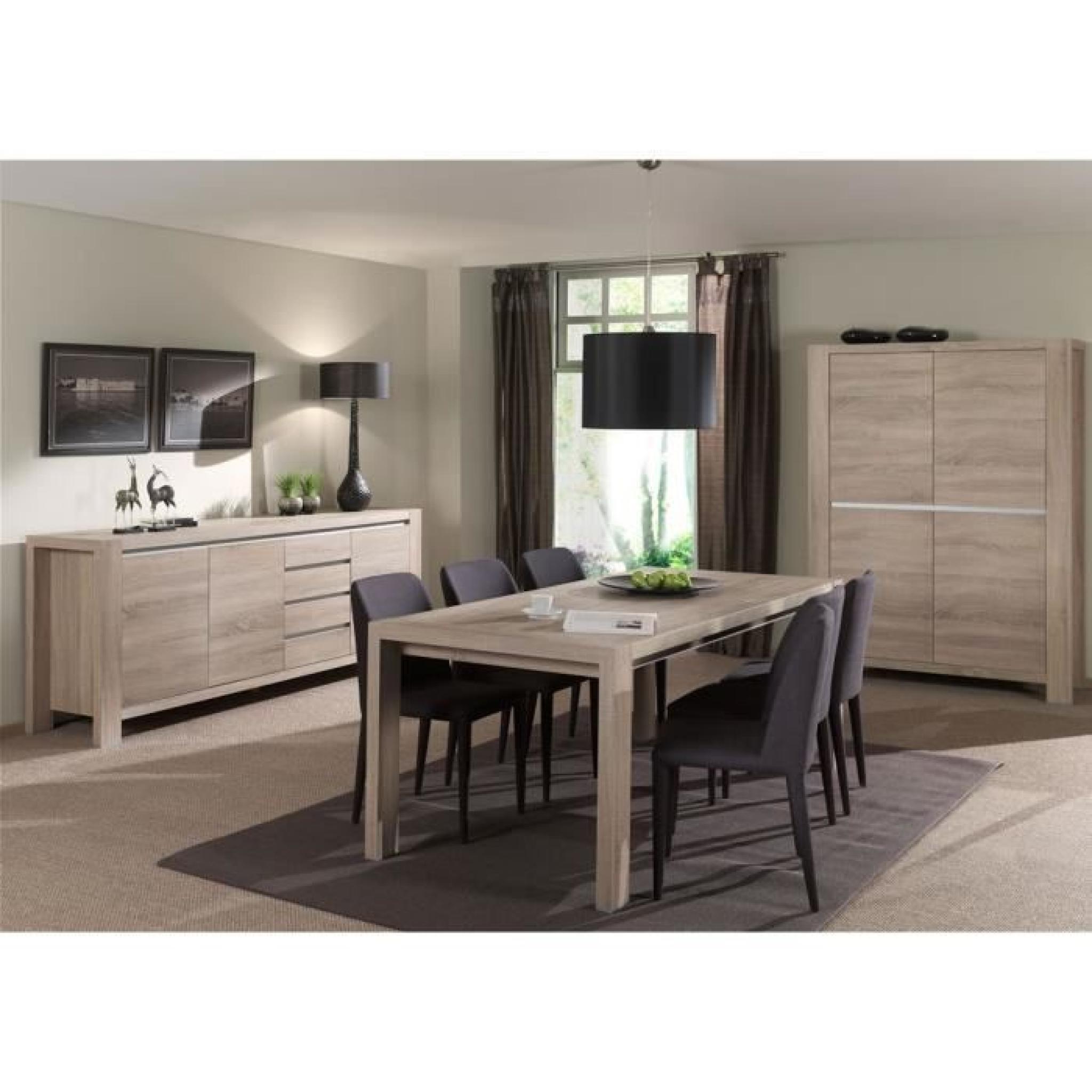 bahut 248 cm coloris ch ne sonoma achat vente buffet pas cher couleur et. Black Bedroom Furniture Sets. Home Design Ideas