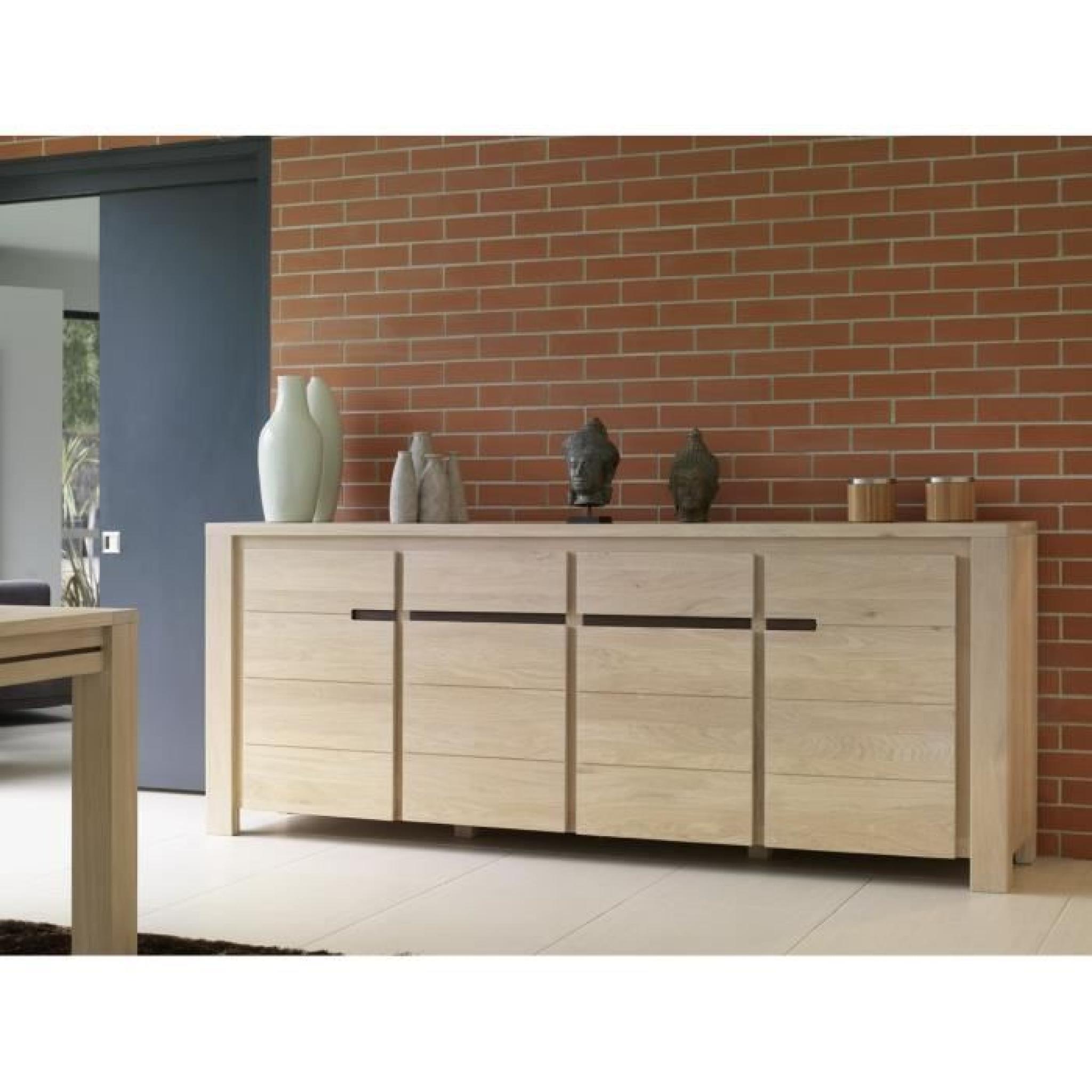 bahut enfilade clea 4p chene massif achat vente buffet. Black Bedroom Furniture Sets. Home Design Ideas