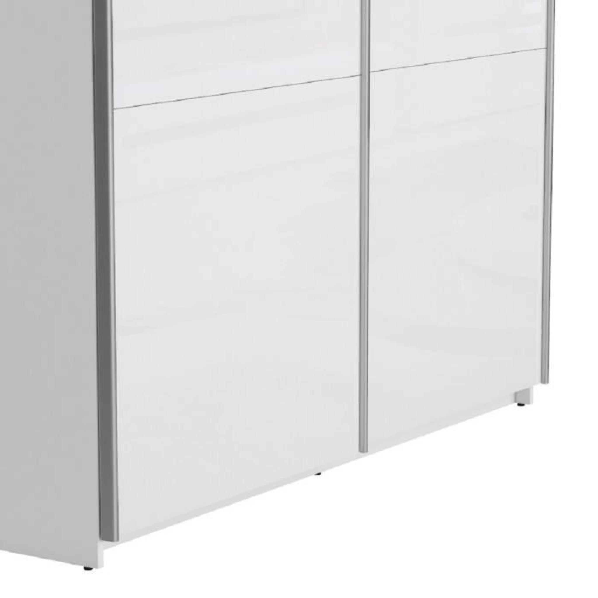 best armoire 150 cm blanc brillant achat vente armoire. Black Bedroom Furniture Sets. Home Design Ideas