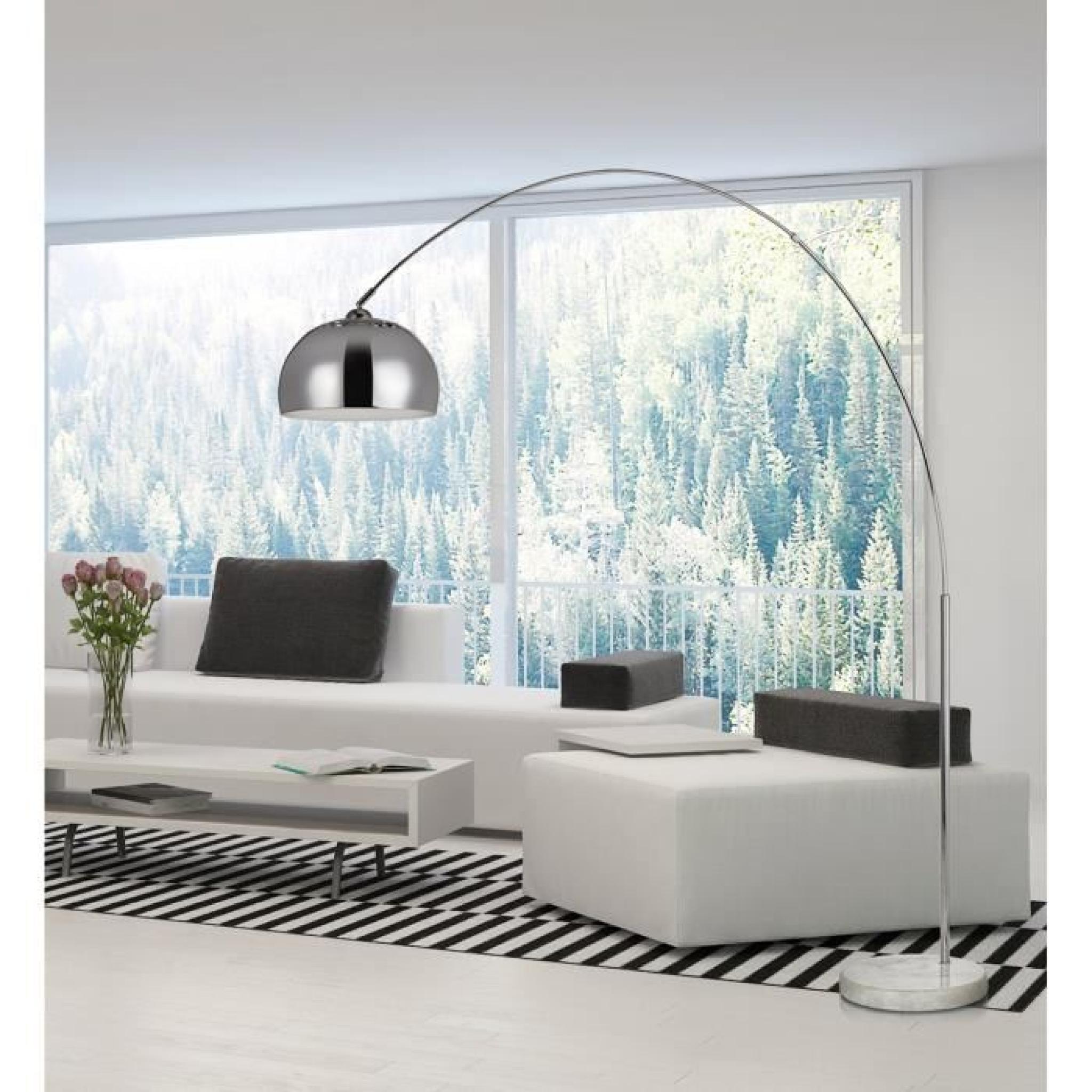 bigarc lampadaire arc h202 chrome achat vente lampadaire. Black Bedroom Furniture Sets. Home Design Ideas