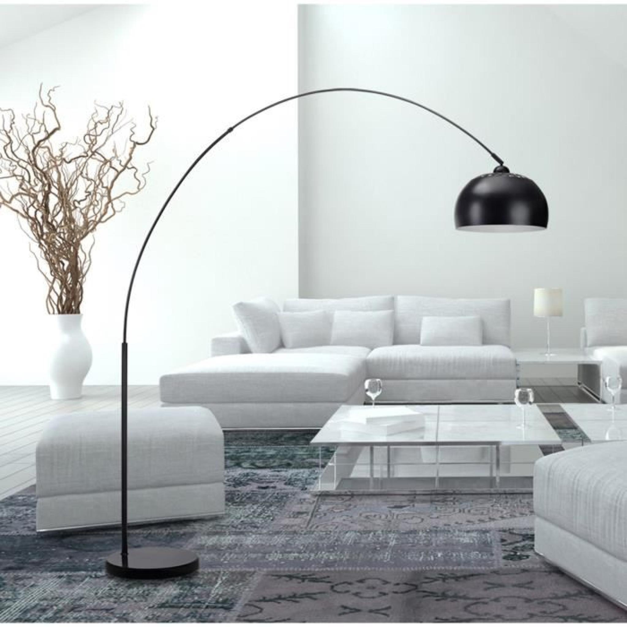 bigarc lampadaire arc h202 noir achat vente lampadaire. Black Bedroom Furniture Sets. Home Design Ideas