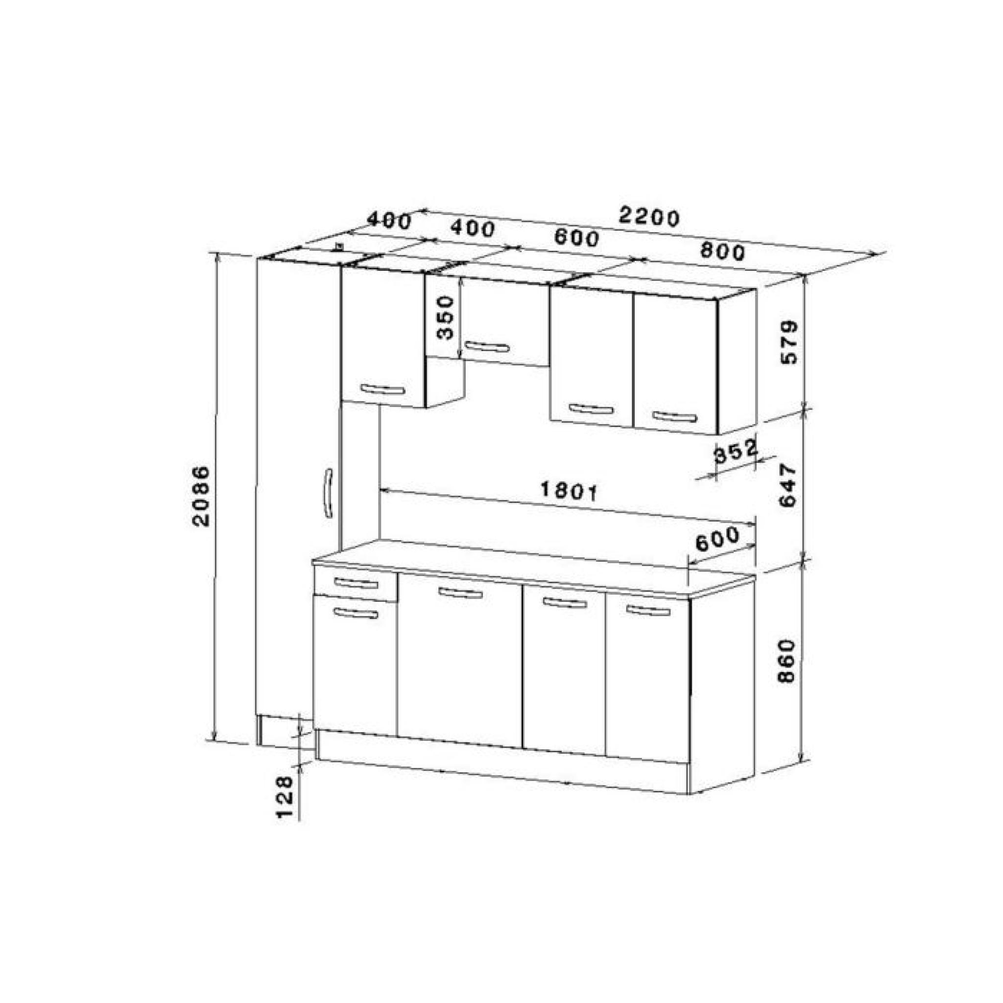 bloc cuisine complte gris aluminium aro pas cher with bloc cuisine pas cher. Black Bedroom Furniture Sets. Home Design Ideas