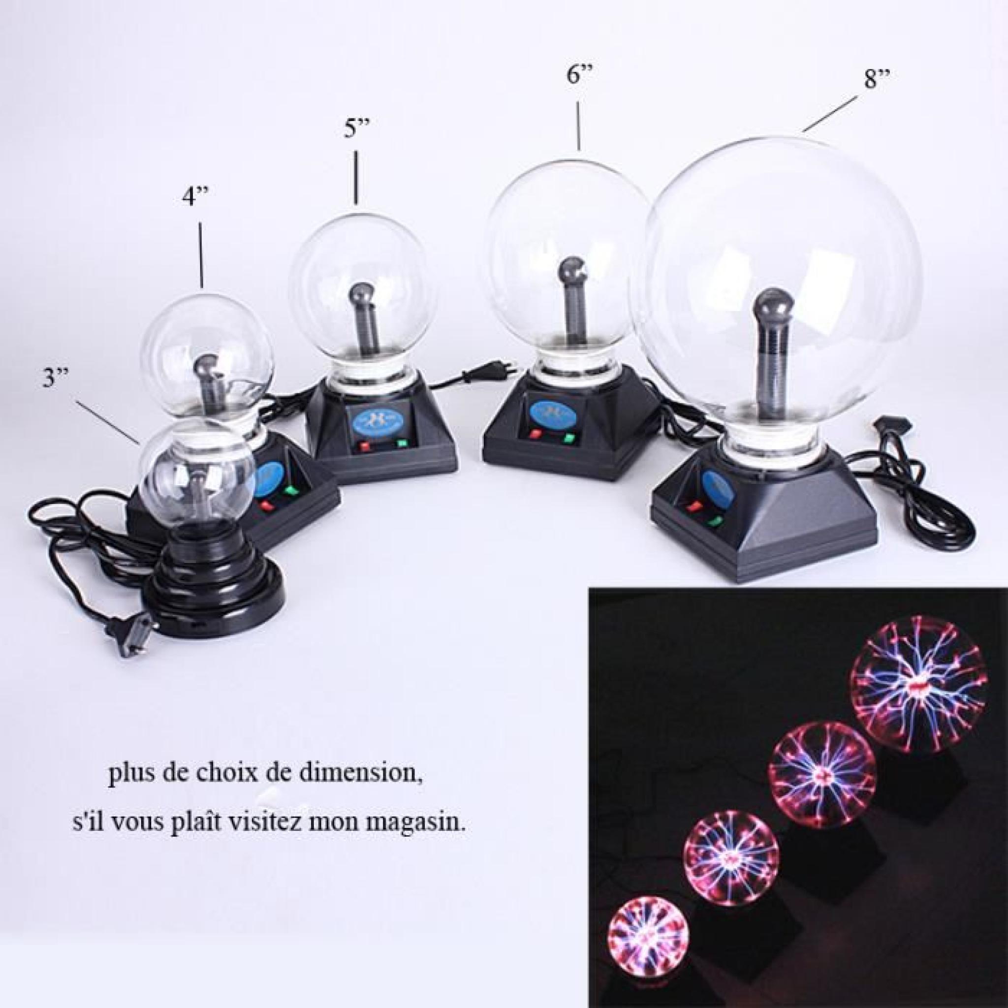 Bro Lampe Boule Plasma Magique Eclairs 6 Achat Vente Lampe A