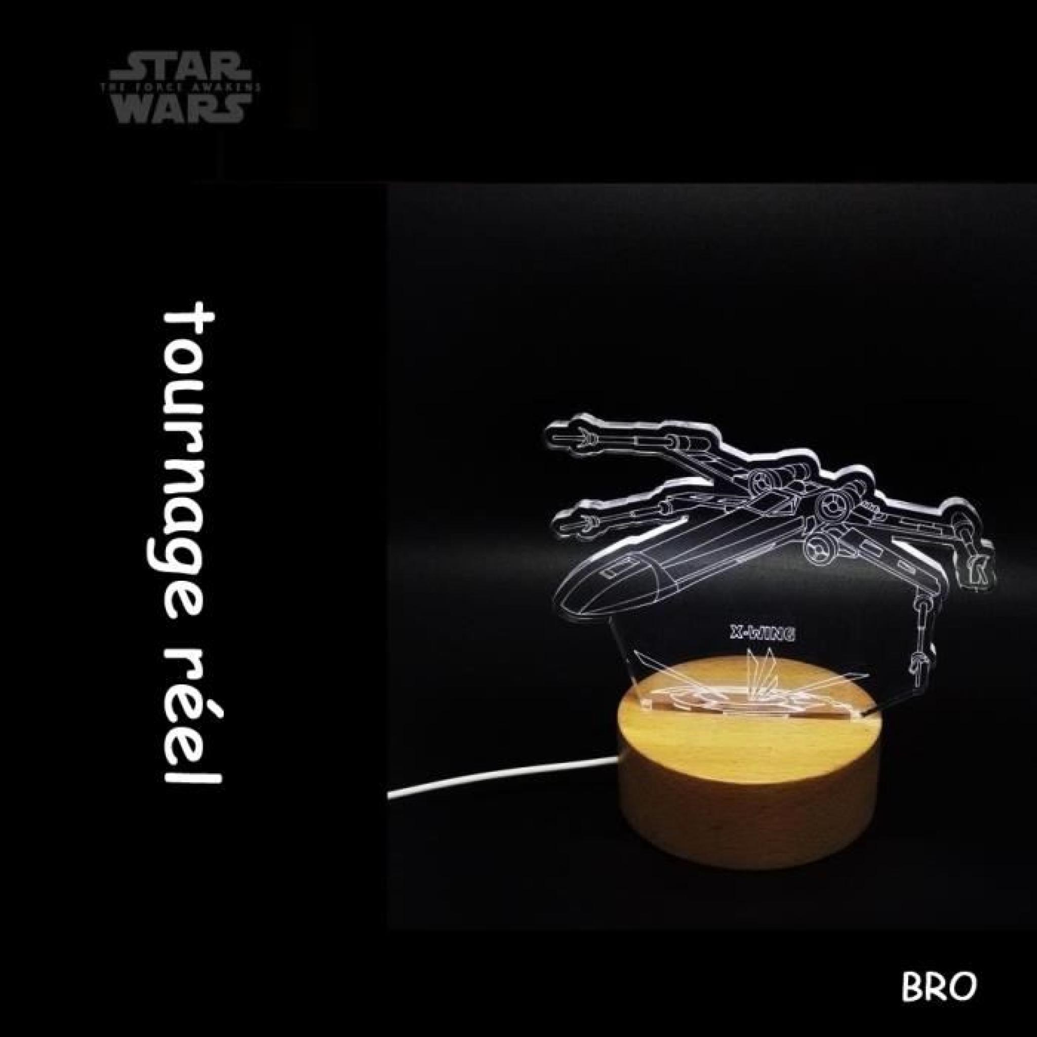 bro star wars usb lampe d corative 3d x wing achat vente. Black Bedroom Furniture Sets. Home Design Ideas