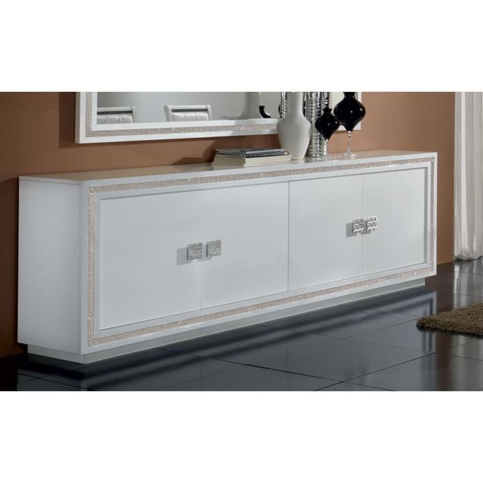 Buffet Bahut Blanc Laque 3 Portes Design Aboca 3 Portes