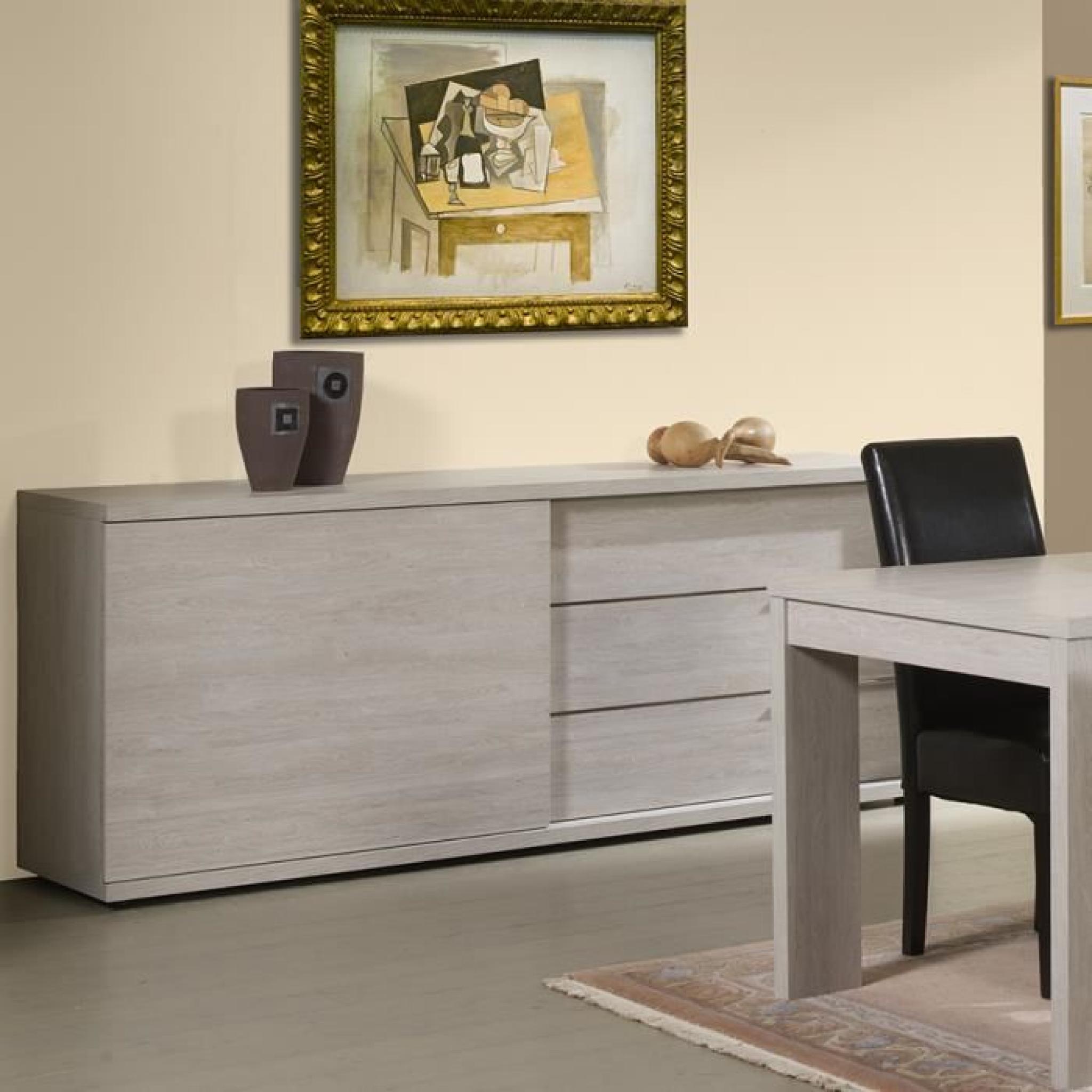 buffet bahut couleur ch ne gris ou ch ne blanchi contemporain ancone ch ne gris couleur. Black Bedroom Furniture Sets. Home Design Ideas