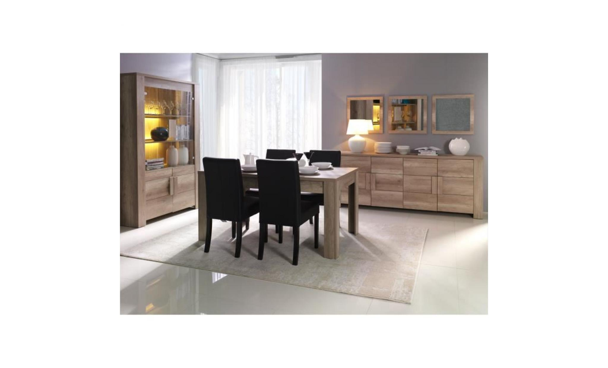 Buffet bahut enfilade moyen mod le ferrara 4 portes for Table a manger et buffet