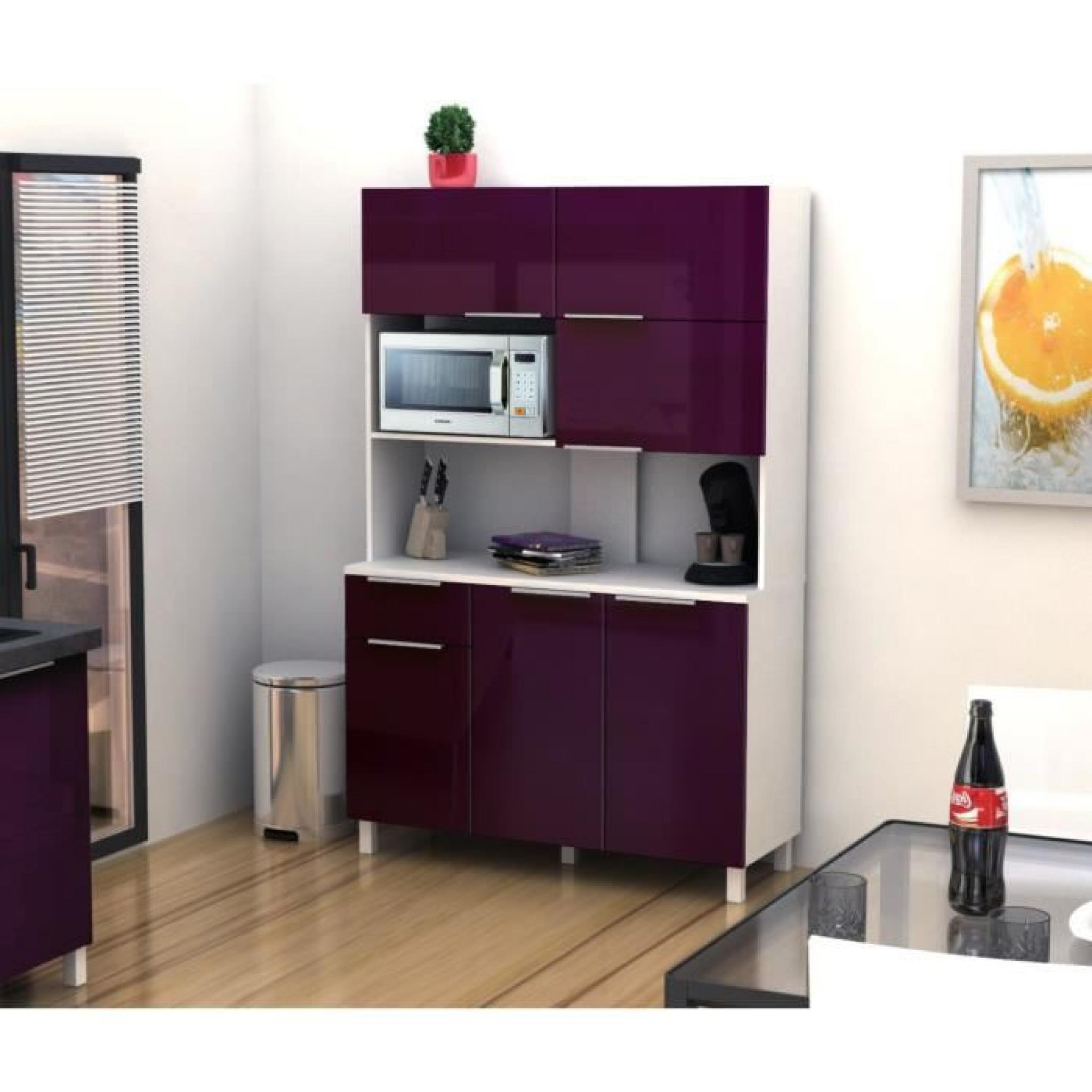 lova buffet de cuisine 120 cm aubergine haute brillance achat vente buffet de cuisine pas. Black Bedroom Furniture Sets. Home Design Ideas