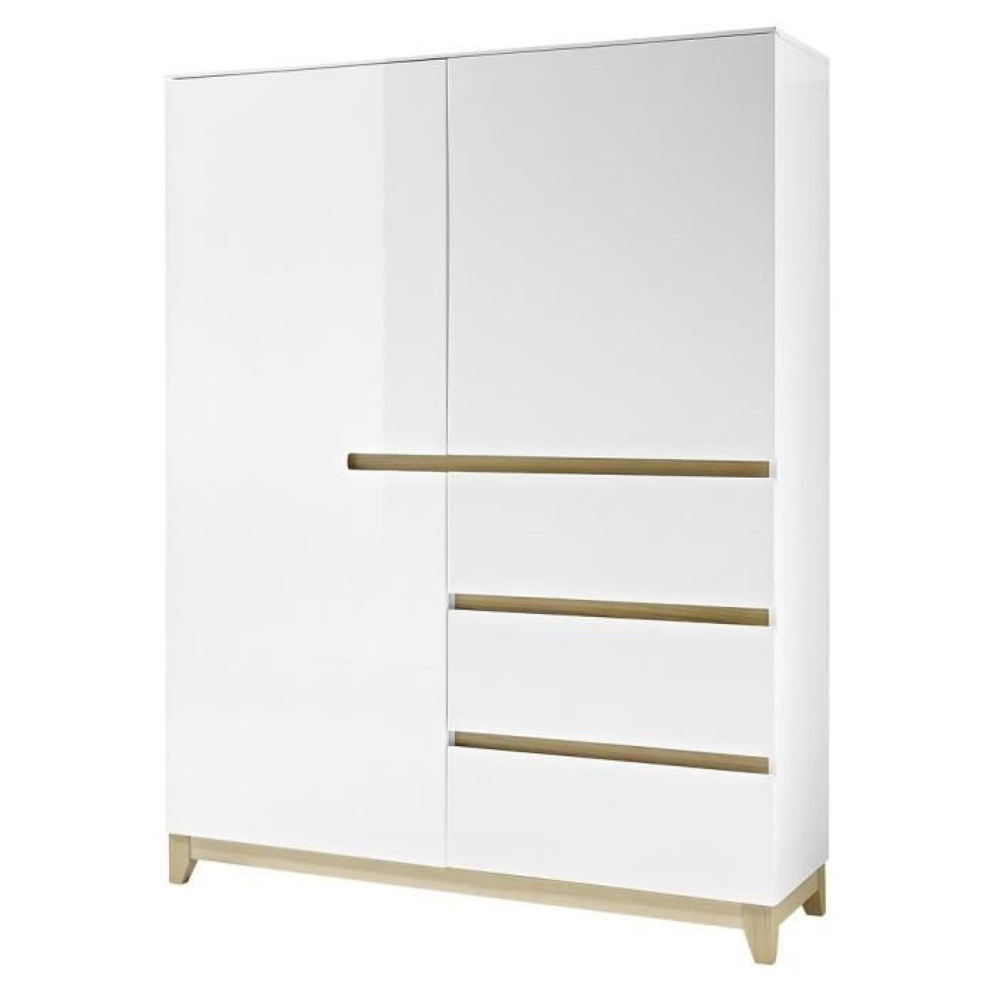 buffet haut riva 2 blanc laqu achat vente buffet pas cher couleur et. Black Bedroom Furniture Sets. Home Design Ideas