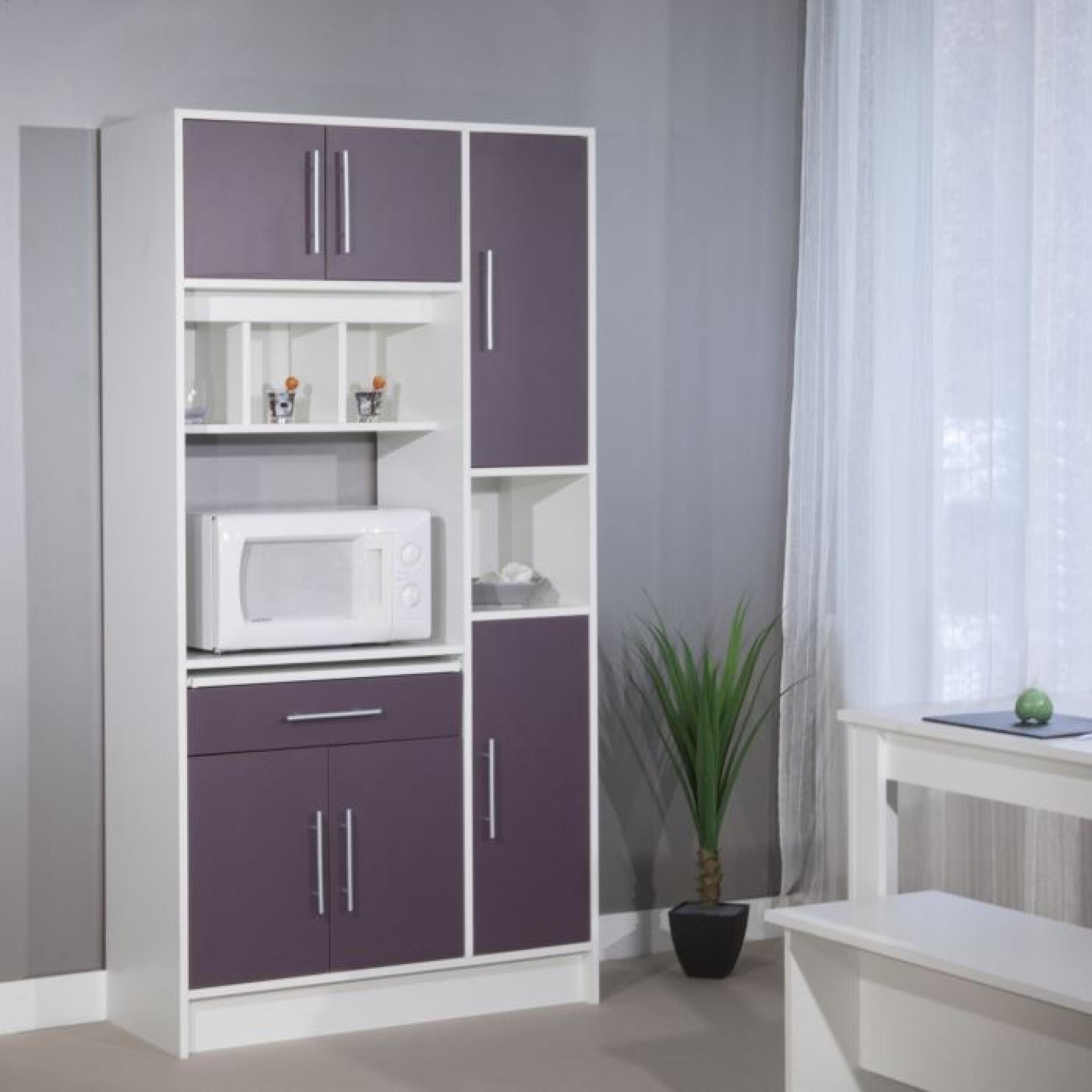 pepper buffet de cuisine 88cm aubergine achat vente. Black Bedroom Furniture Sets. Home Design Ideas