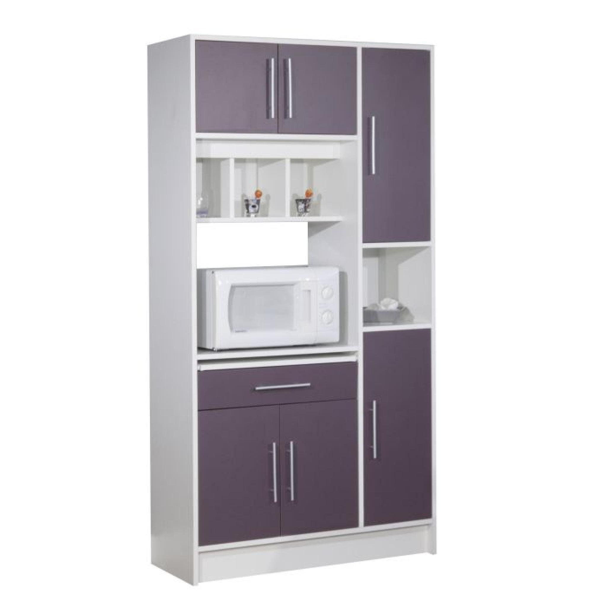 pepper buffet de cuisine 88cm aubergine achat vente. Black Bedroom Furniture Sets. Home Design Ideas