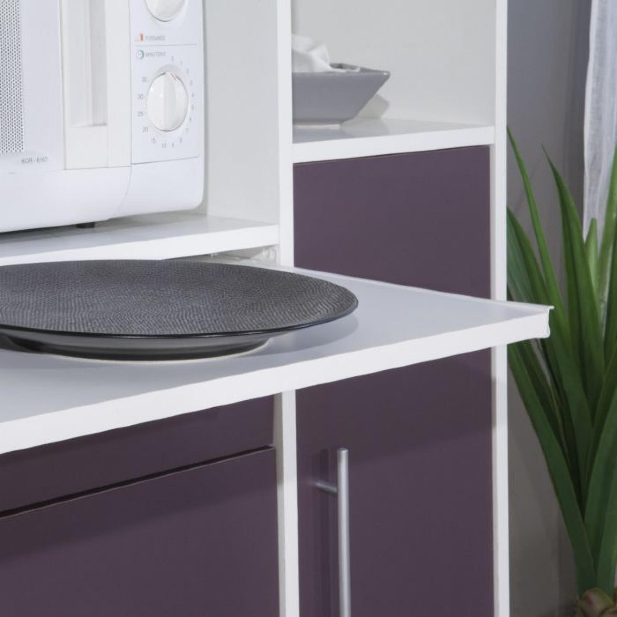 pepper buffet de cuisine 88cm aubergine achat vente buffet de cuisine pas cher couleur et. Black Bedroom Furniture Sets. Home Design Ideas