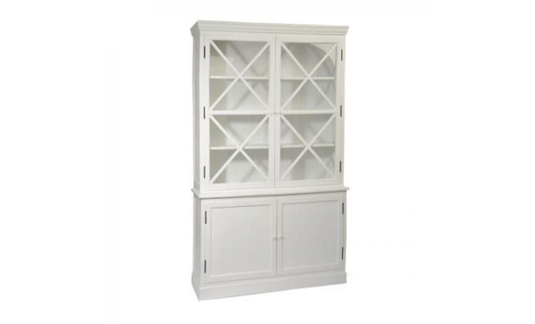 vaisselier blanc pas cher Buffet vaisselier 4 portes - Blanc