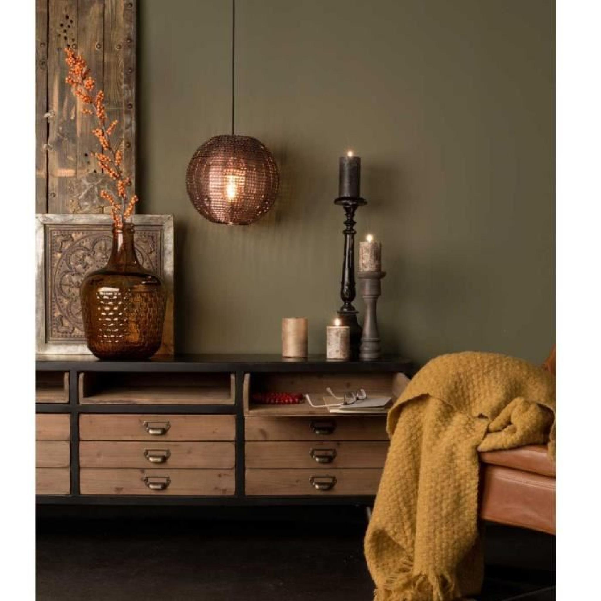buffet vintage m tal et bois sol couleur bois m achat vente buffet pas cher couleur et. Black Bedroom Furniture Sets. Home Design Ideas