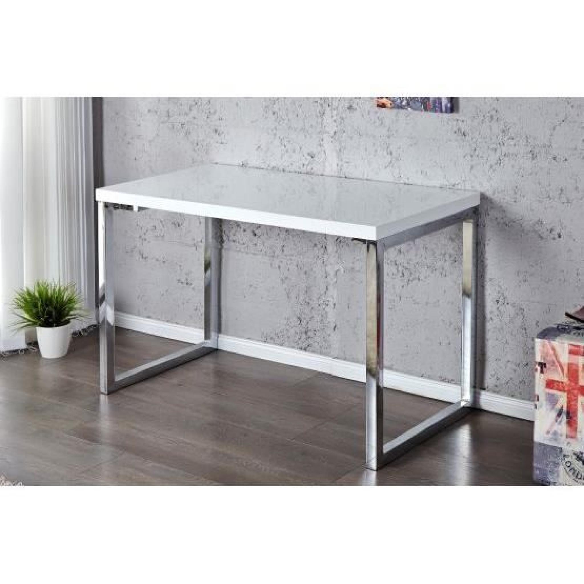Bureau design maela blanc achat vente table salle a for Produit bureau