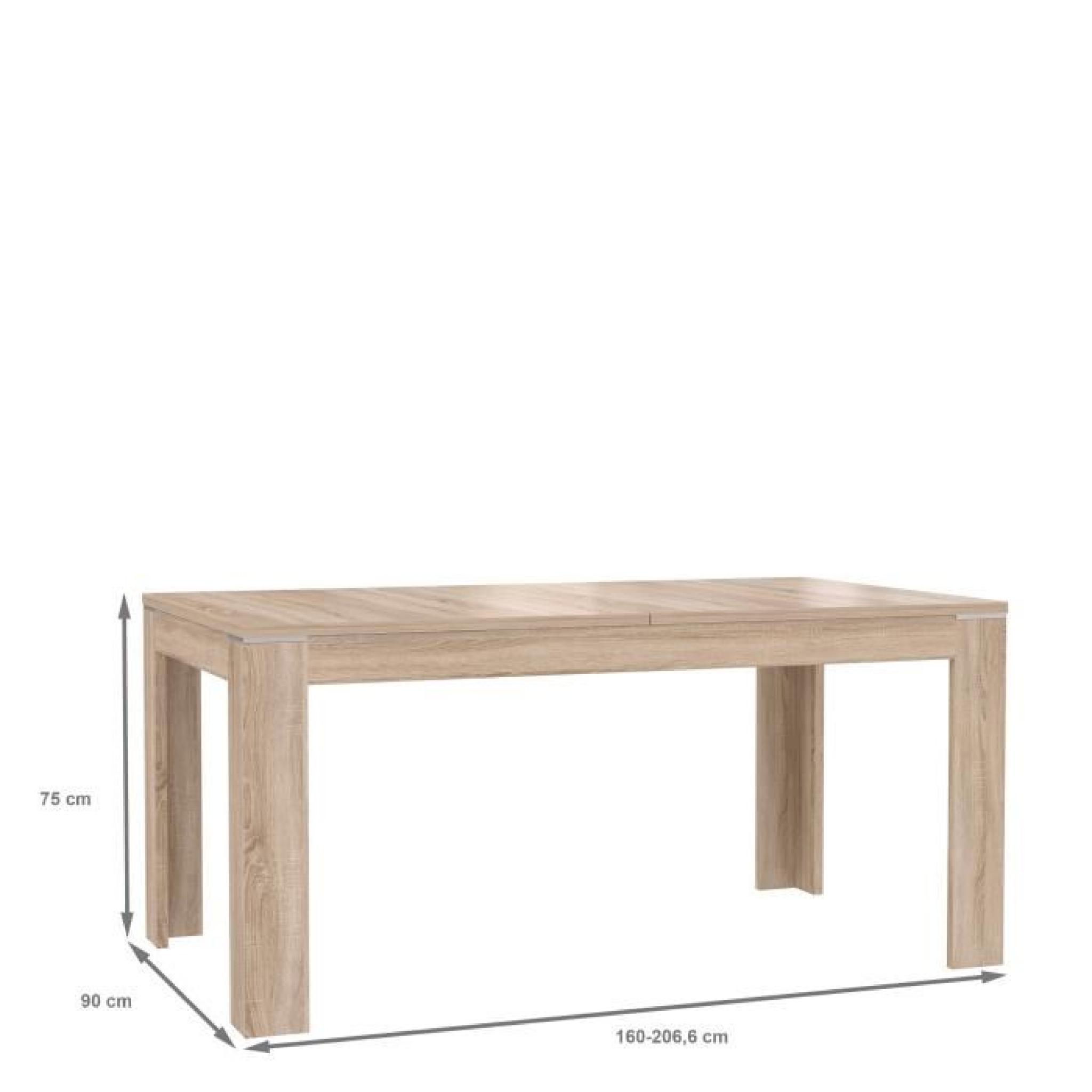 CALPE Table extensible 160/207cm coloris chêne clair - Achat/Vente ...