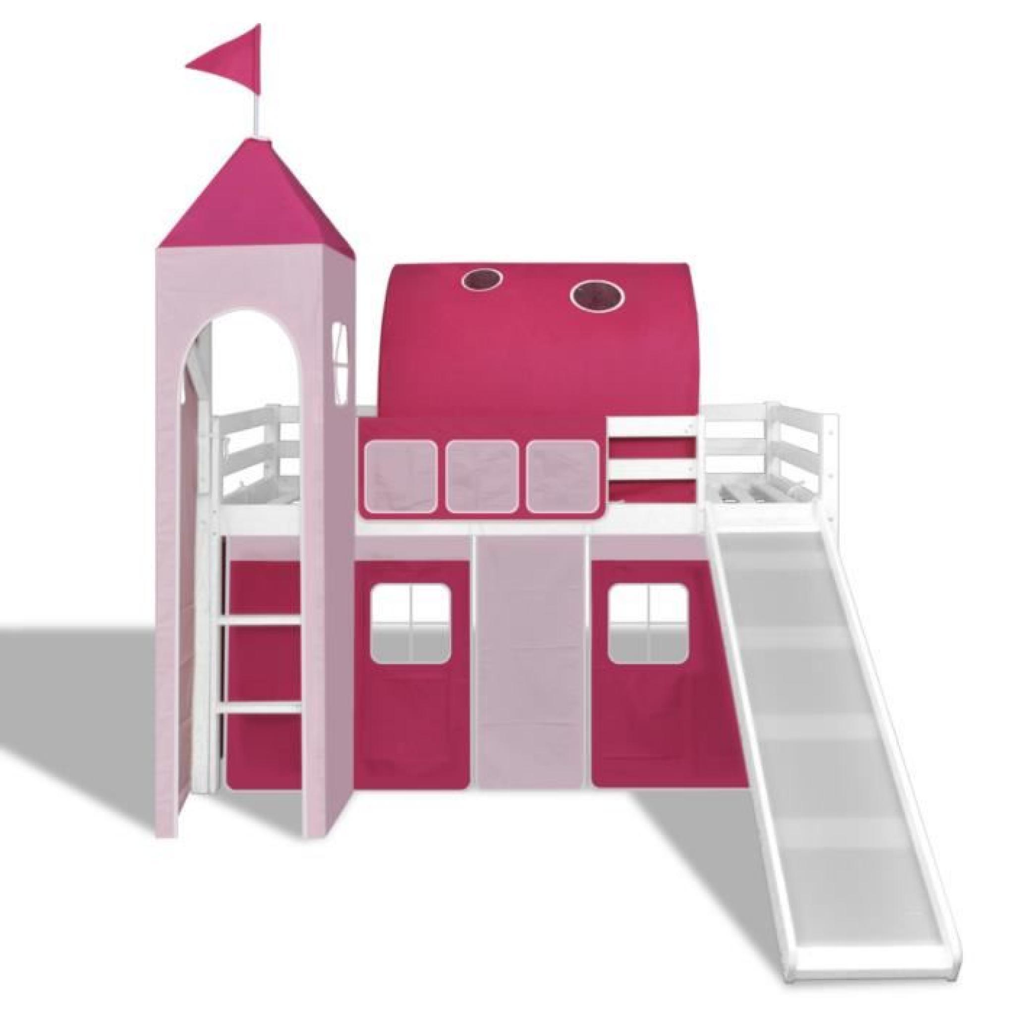 ce lit mezzanine avec son toboggan est id al pour les gar ons de conception du th me des. Black Bedroom Furniture Sets. Home Design Ideas