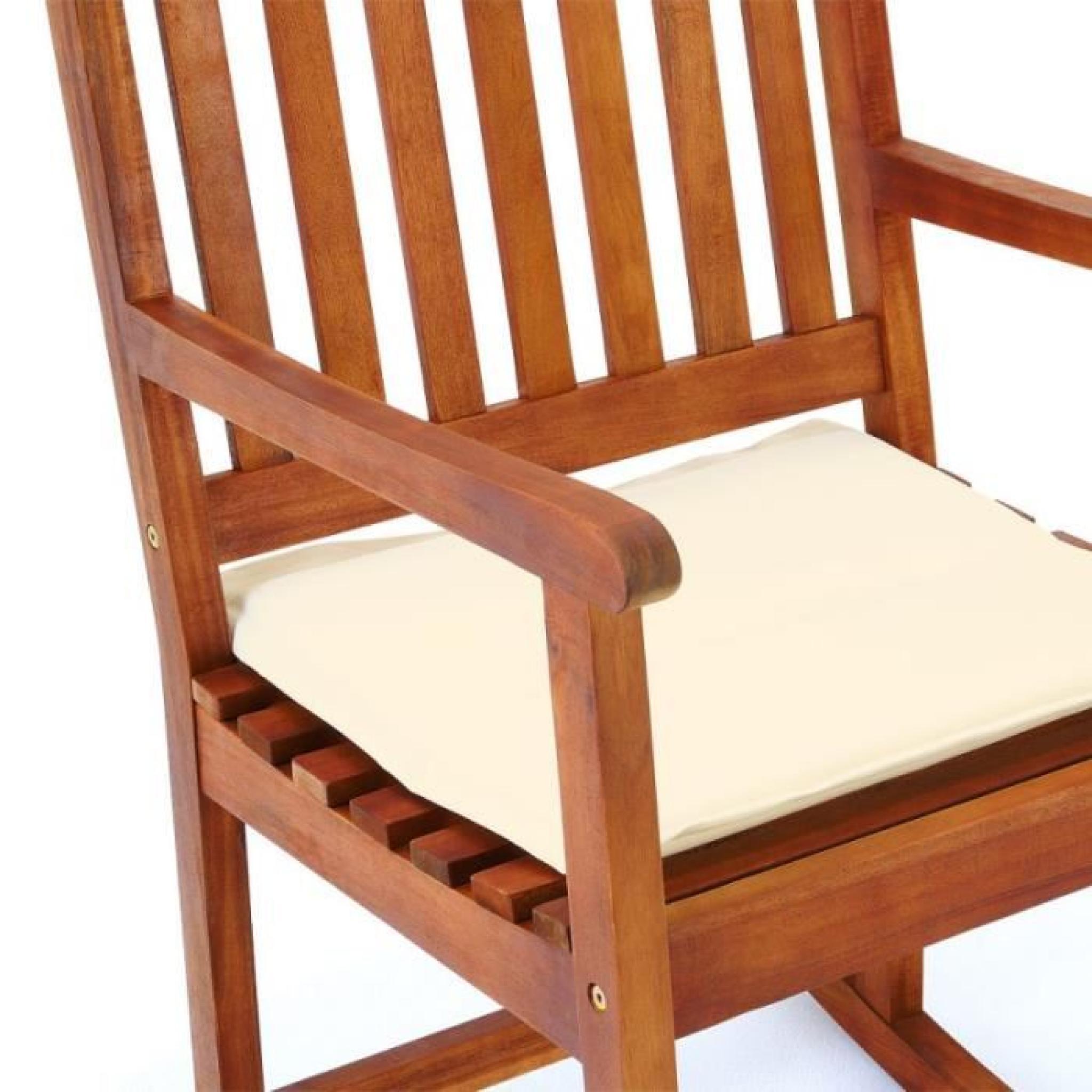 chaise bascule bois rocking chair achat vente chaise salle a manger pas cher couleur et. Black Bedroom Furniture Sets. Home Design Ideas