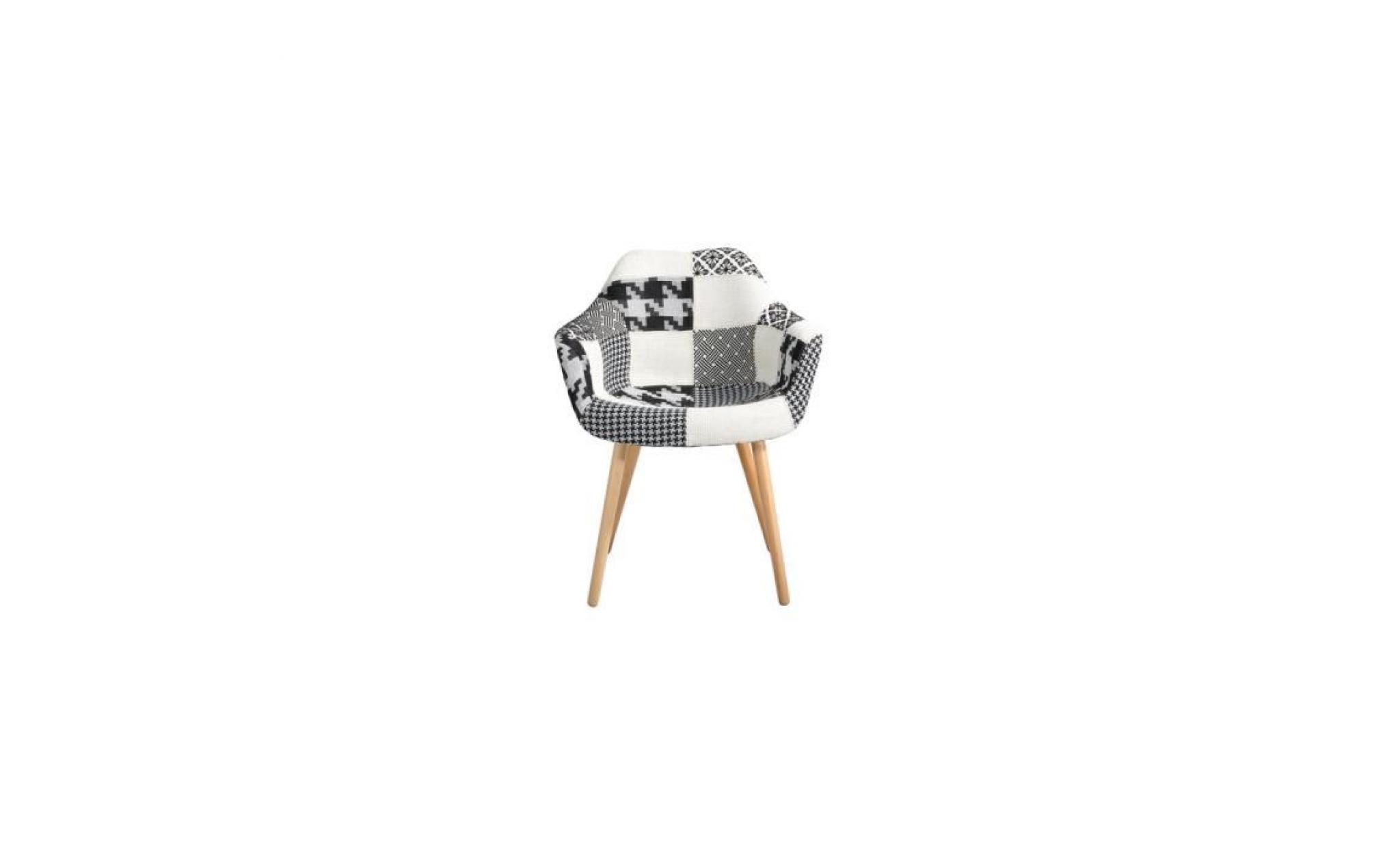 chaise anssen patchwork grise achat vente chaise salle a manger pas cher couleur et. Black Bedroom Furniture Sets. Home Design Ideas