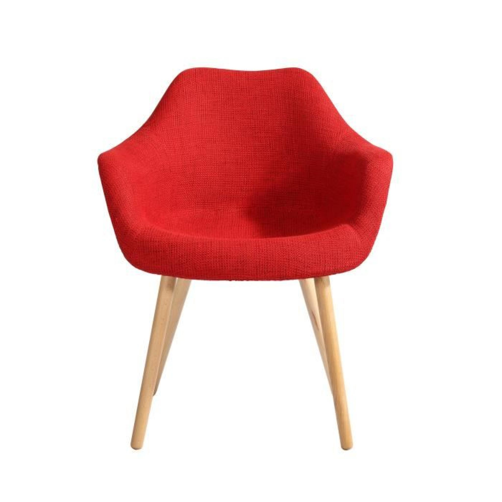 Chaise Anssen Rouge Achat Vente Chaise Salle A Manger Pas Cher
