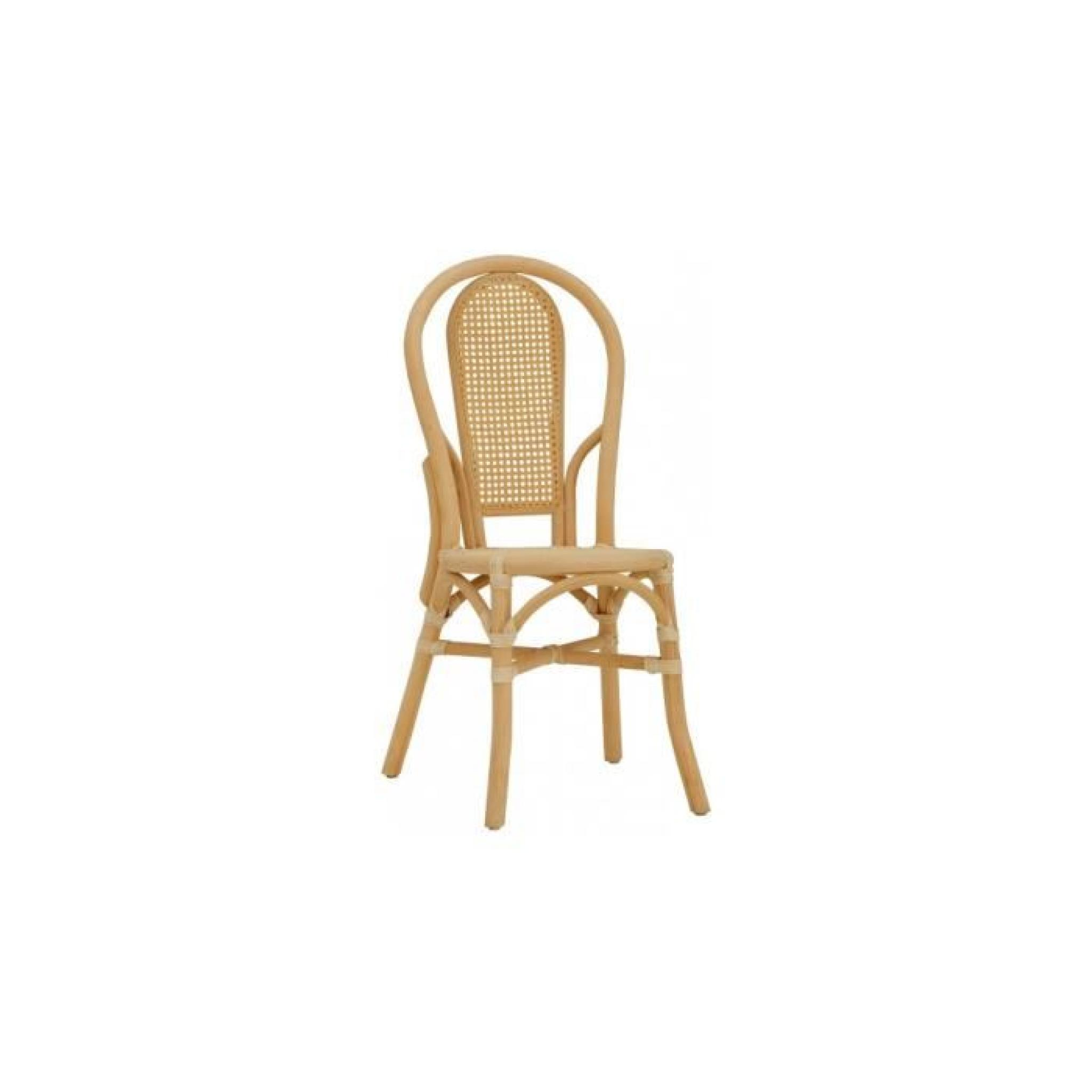 Chaise Bistrot Rotin Et Cannage Gris Pas Cher