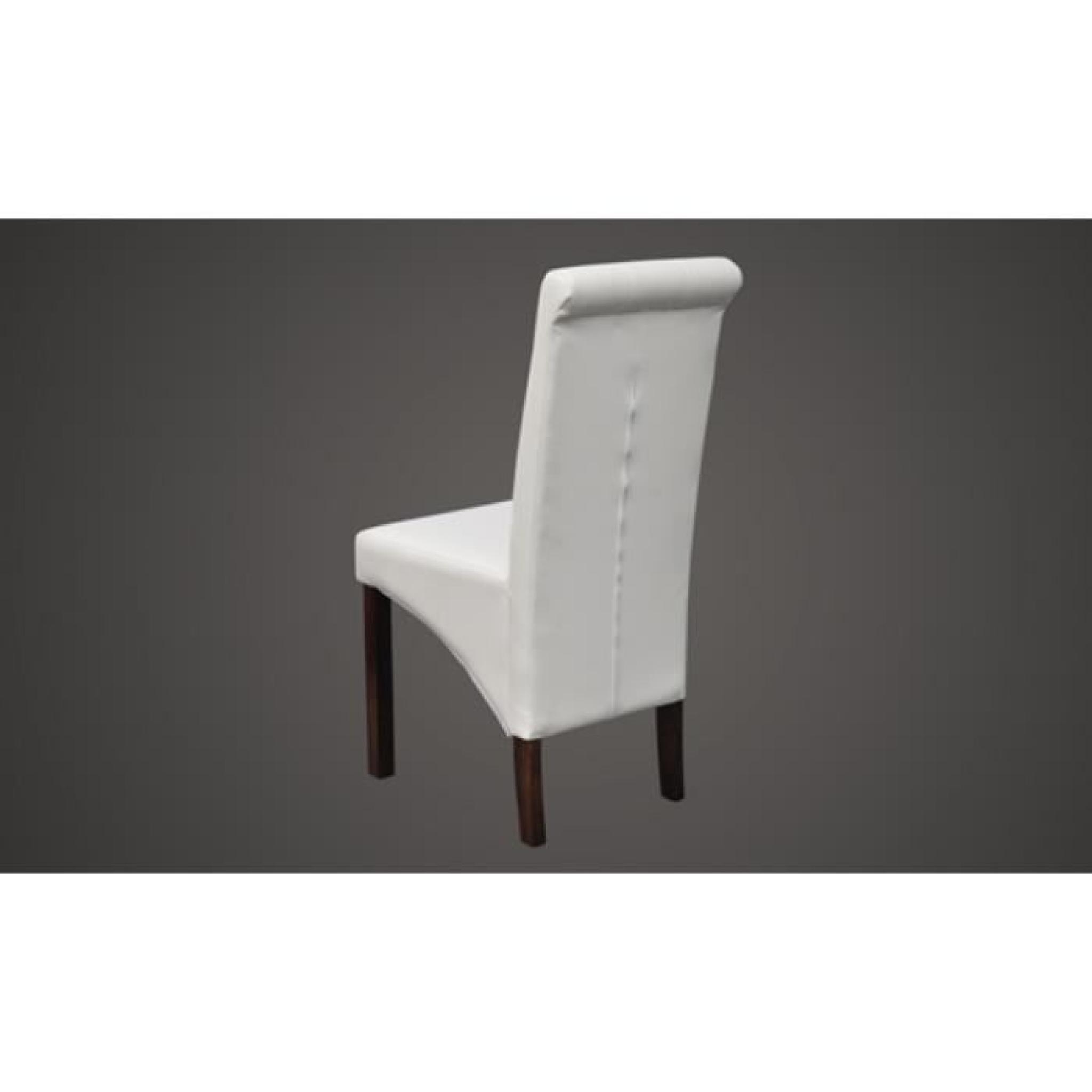Chaise capitonnée blanche (lot de 2)