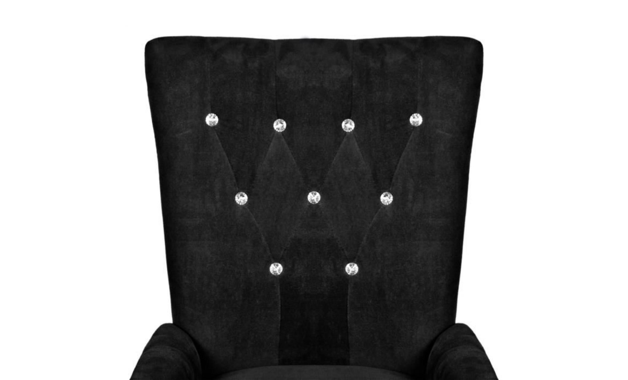 Chaise capitonn e noir 54 x 56 x 106 cm achat vente Chaise salle a manger capitonnee