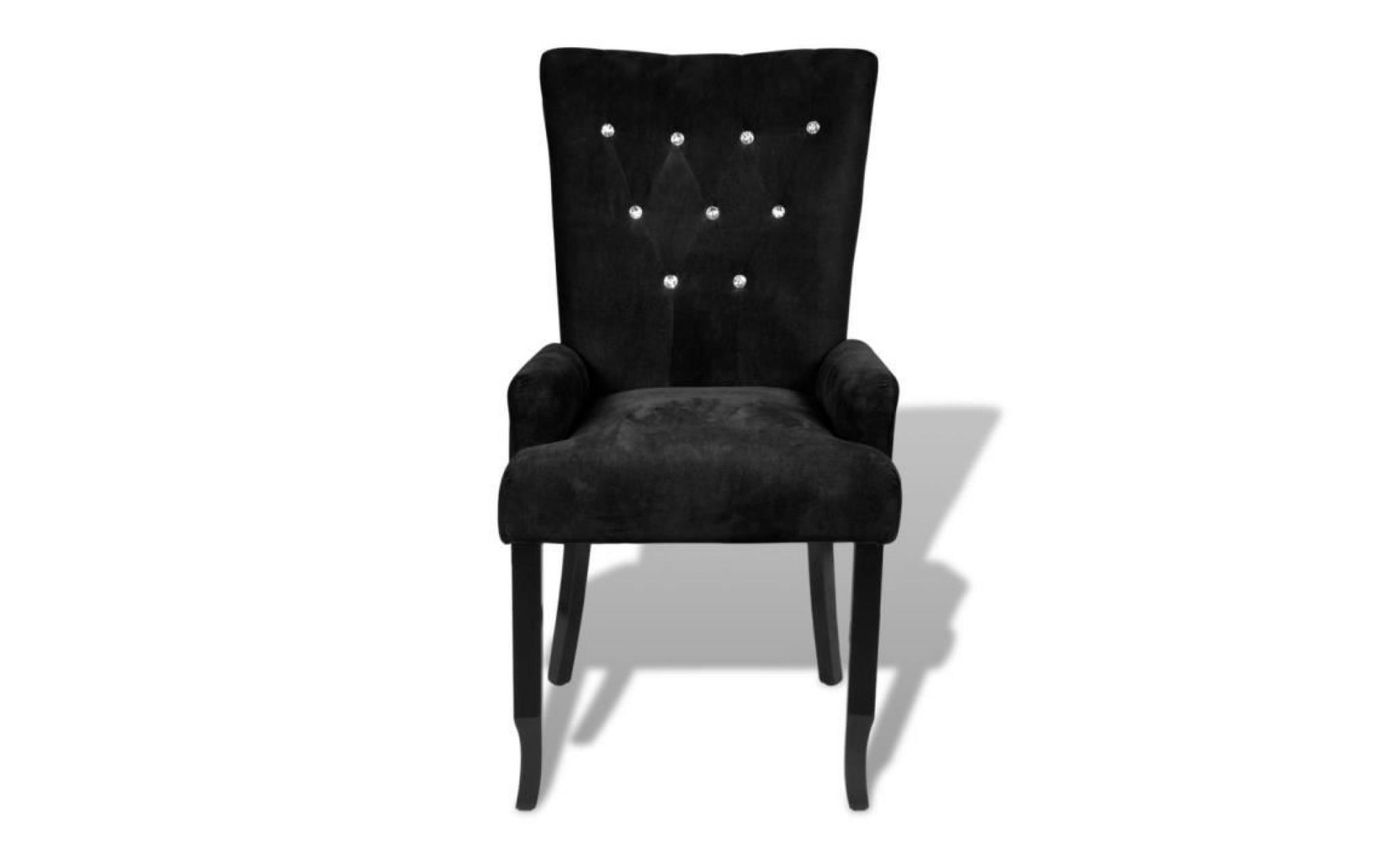 Chaise Capitonnee Noir 54 X 56 106 Cm Pas Cher