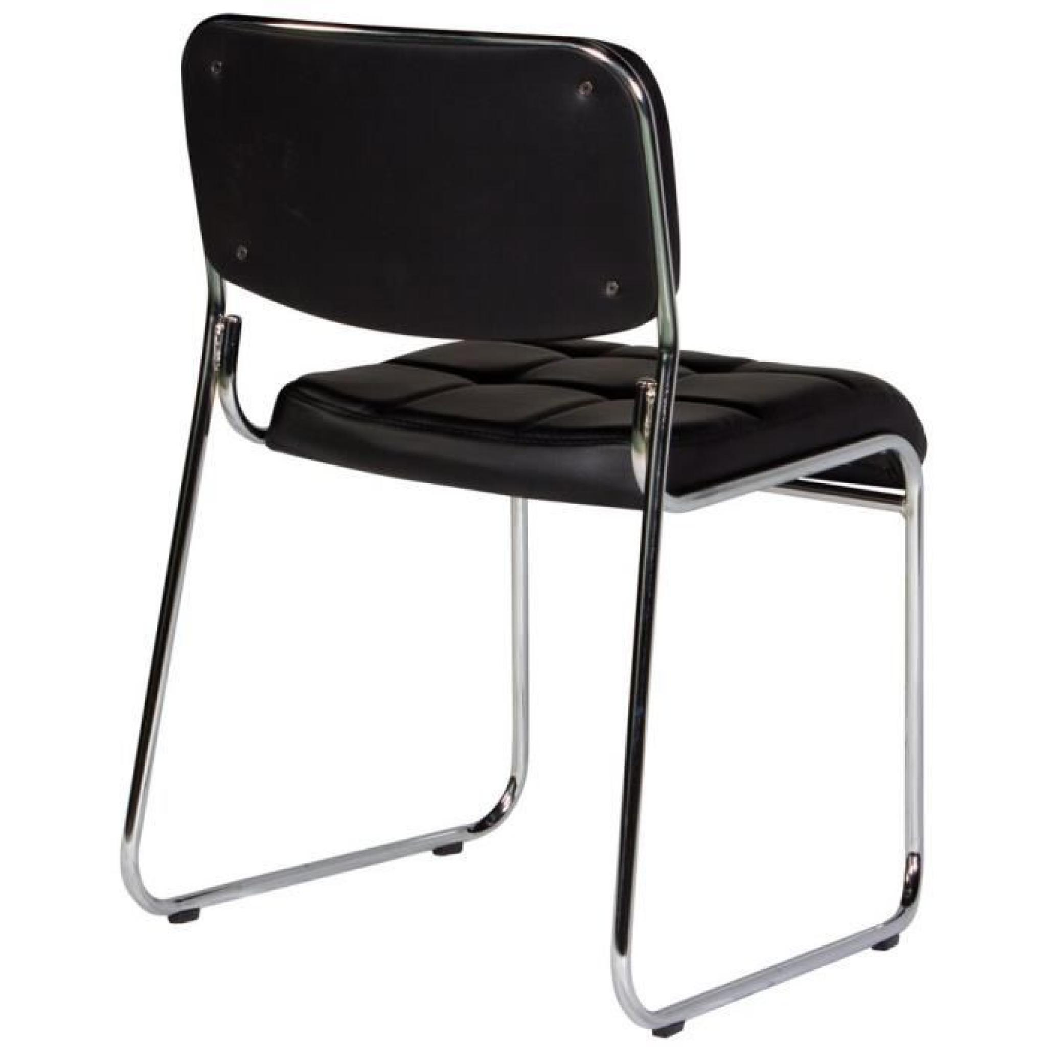 Chaise capitonn e sans accoudoirs coloris noir moderne achat vente chaise salle a manger pas - Porte capitonnee prix ...