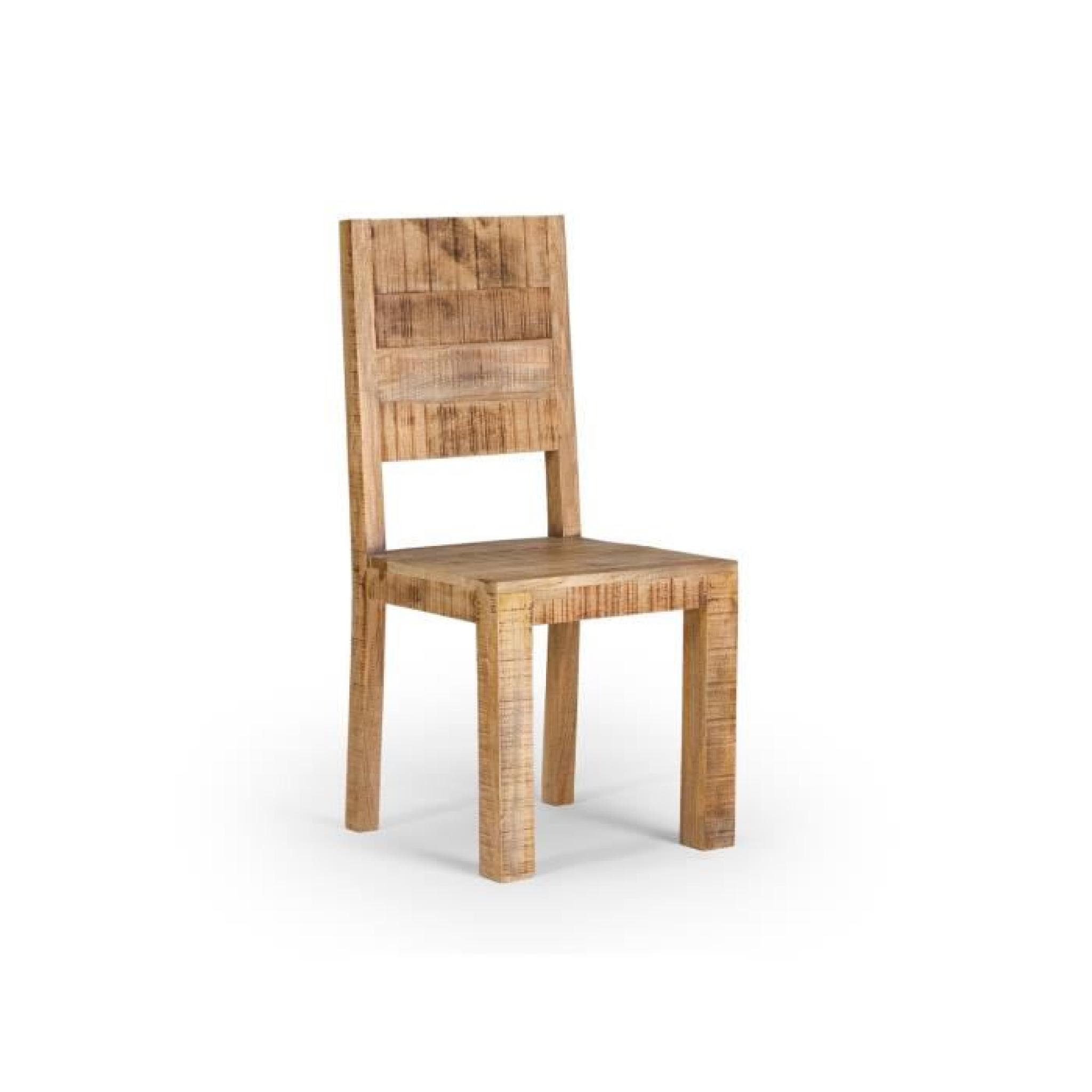 #744D2B Chaise CHENNAI En Bois De Manguier Massif Achat/Vente  5043 salle a manger bois massif pas cher 2048x2048 px @ aertt.com