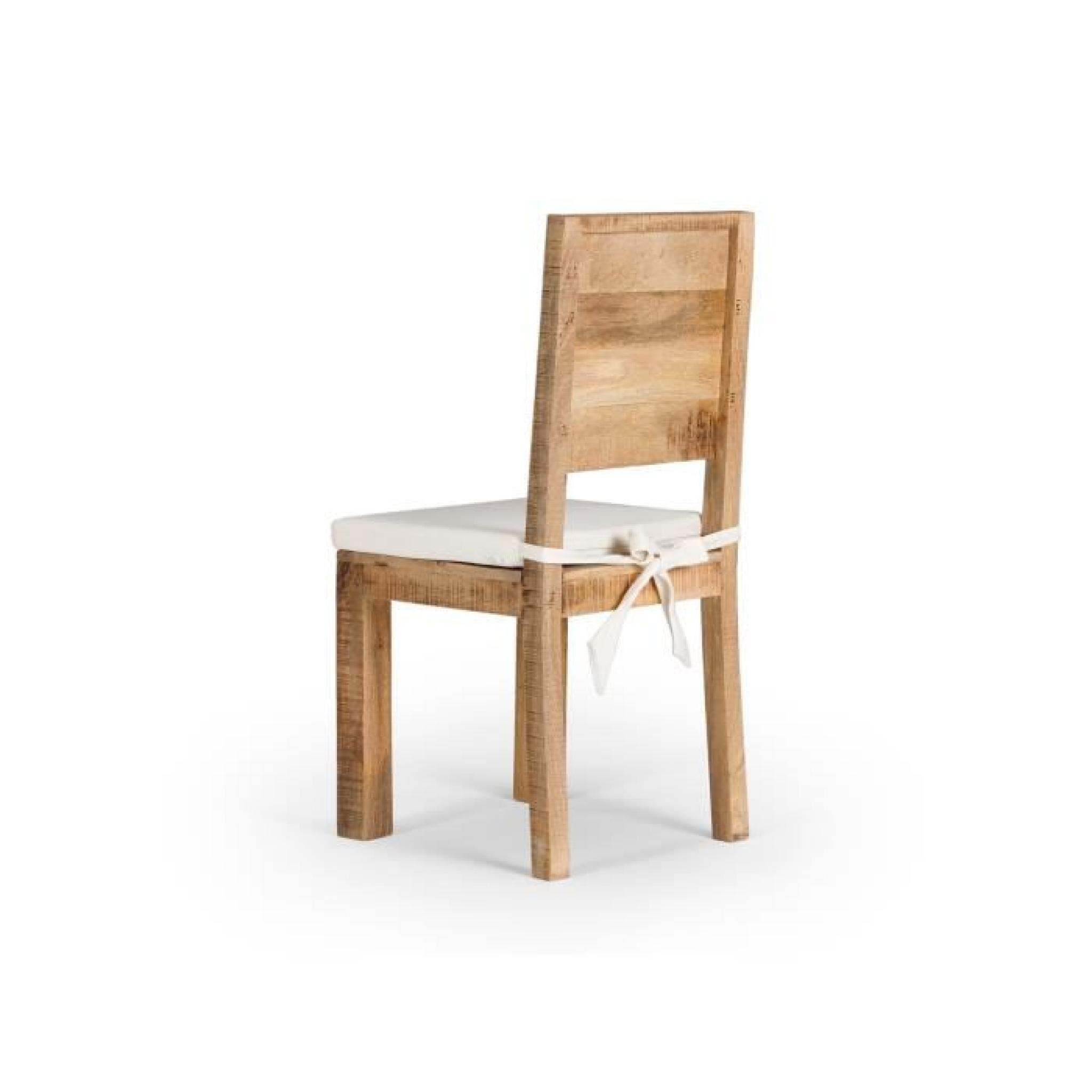 Chaise chennai en bois de manguier massif achat vente chaise salle a manger - Chaises bois pas cher ...