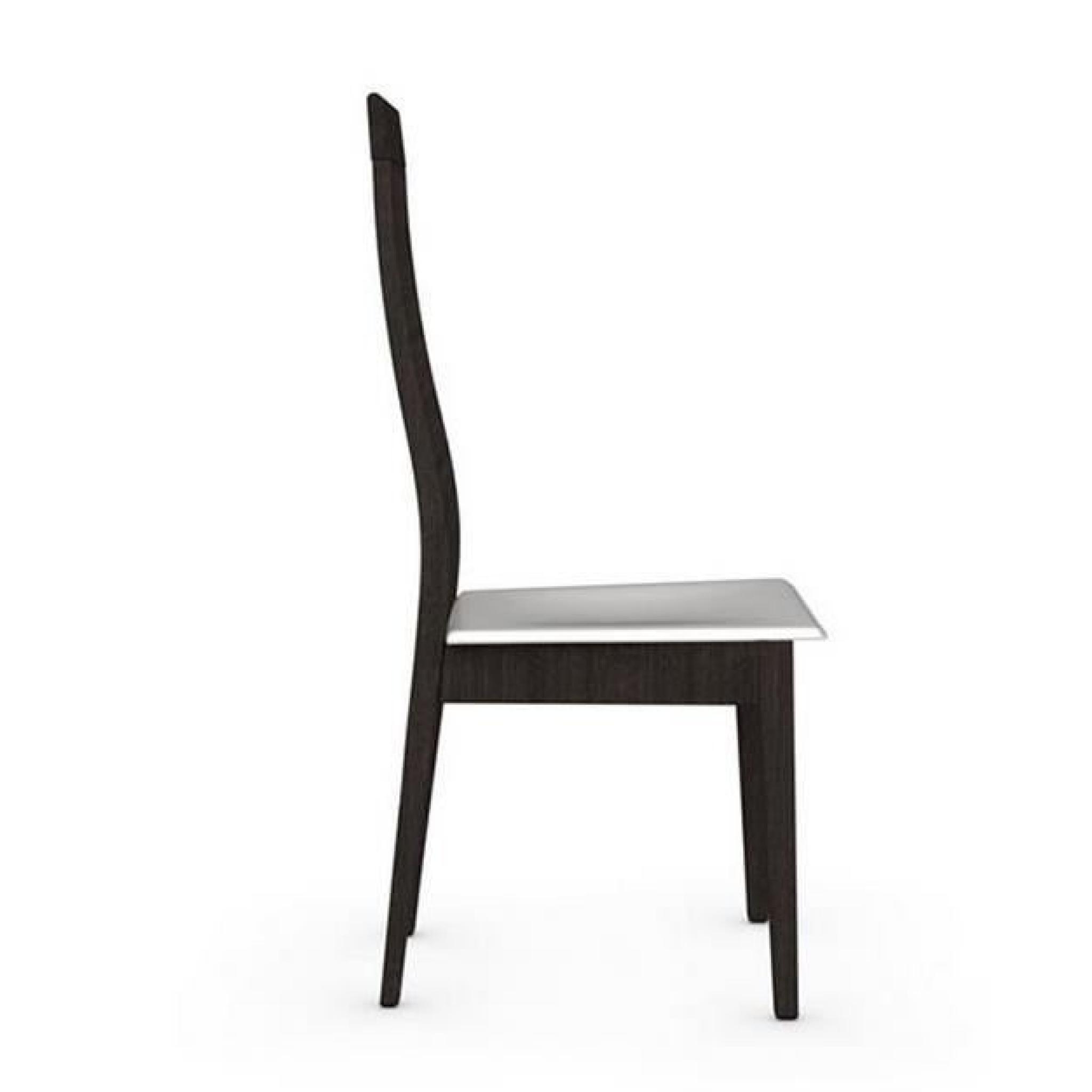 Chaise CHICAGO de CALLIGARIS structure wengé assise tissu noir