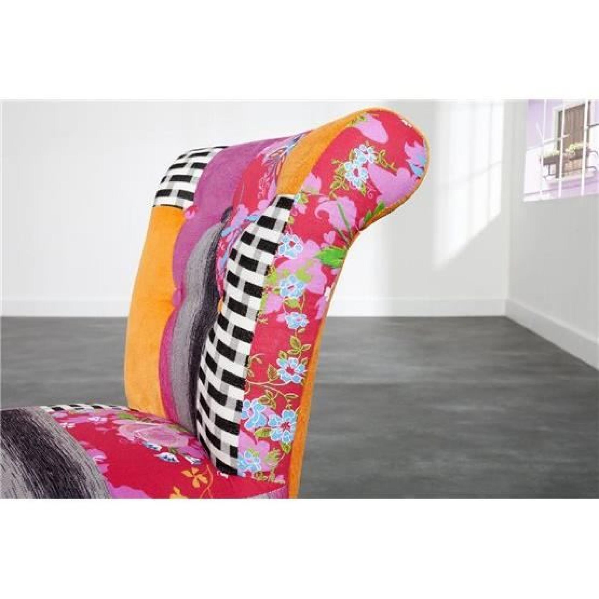chaise colore bizans multicolore par 2 pas cher - Chaise Coloree