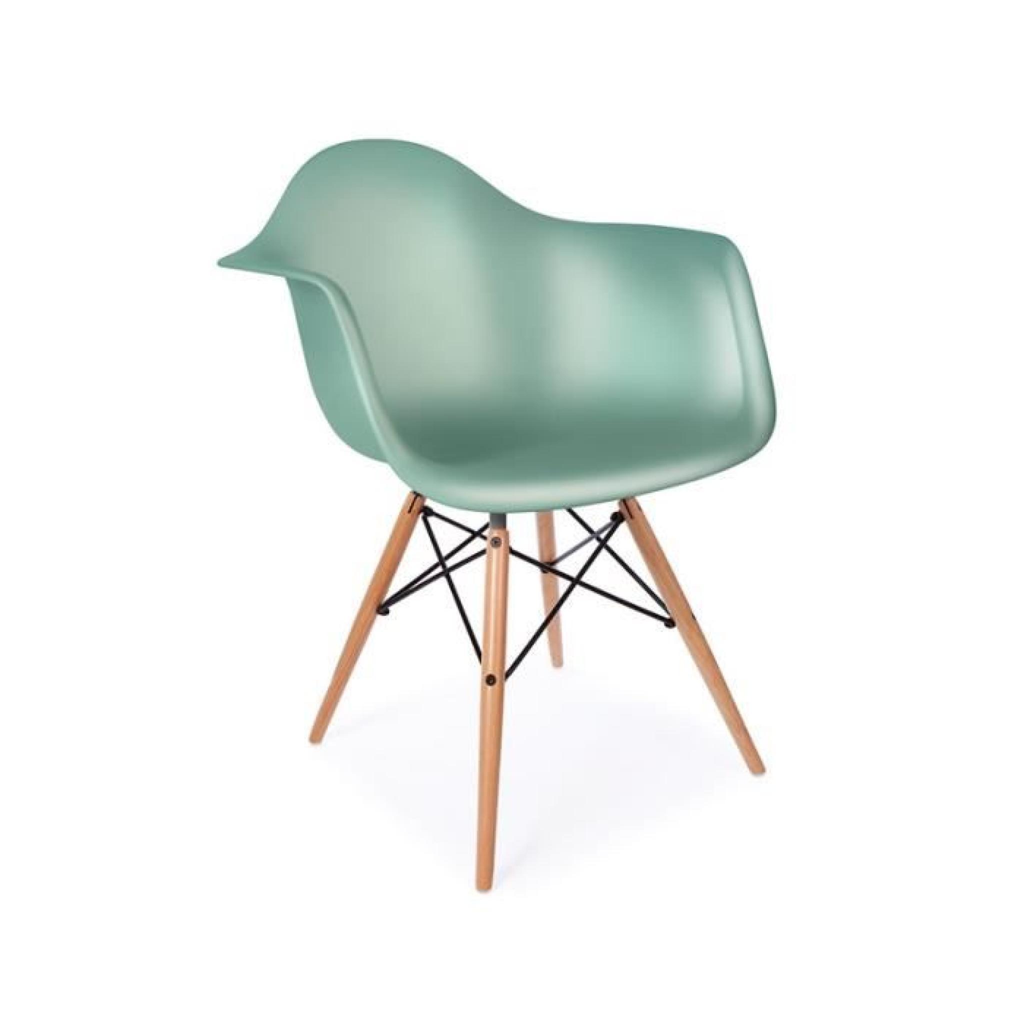 chaise daw - bleu vert - achat/vente chaise salle a manger pas ... - Chaise Daw Pas Cher