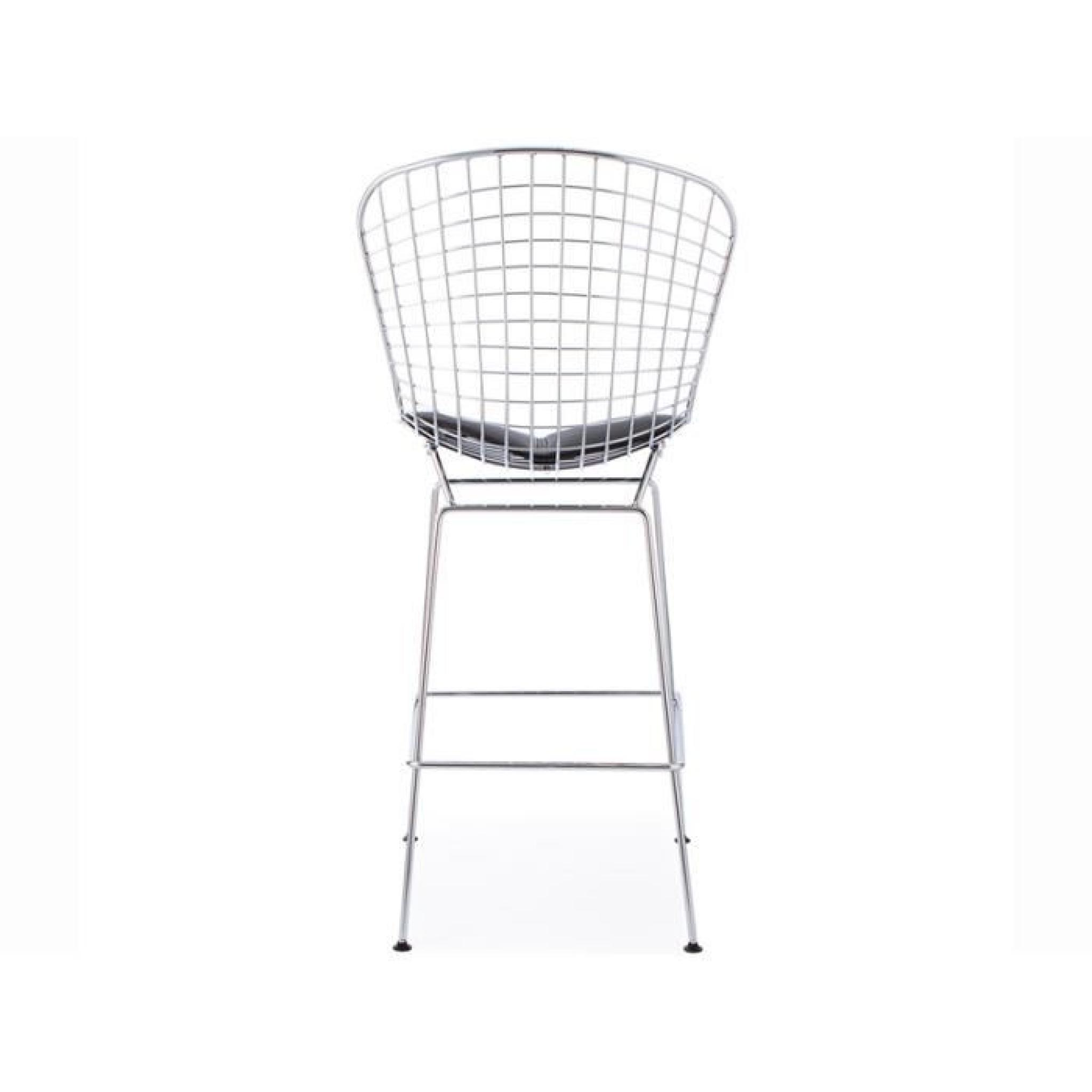 chaise-de-bar-bertoia-wire-4 Incroyable De Hauteur Tabouret Bar