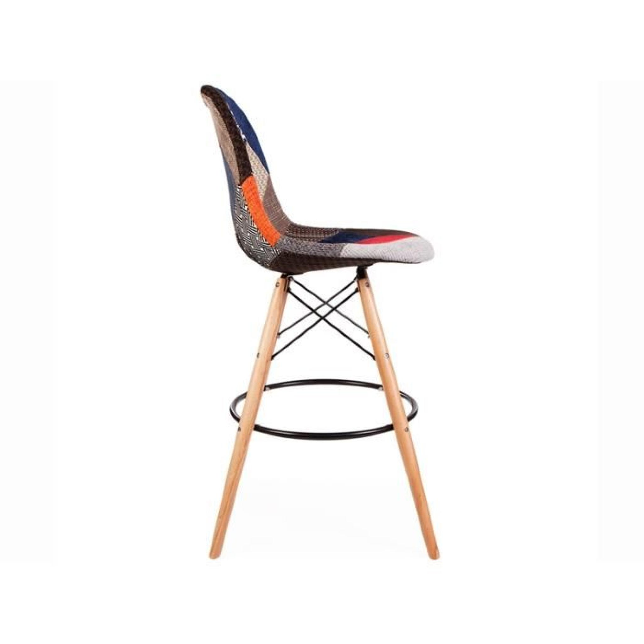 Chaise de bar dsb patchwork achat vente tabouret de for Achat chaise de bar