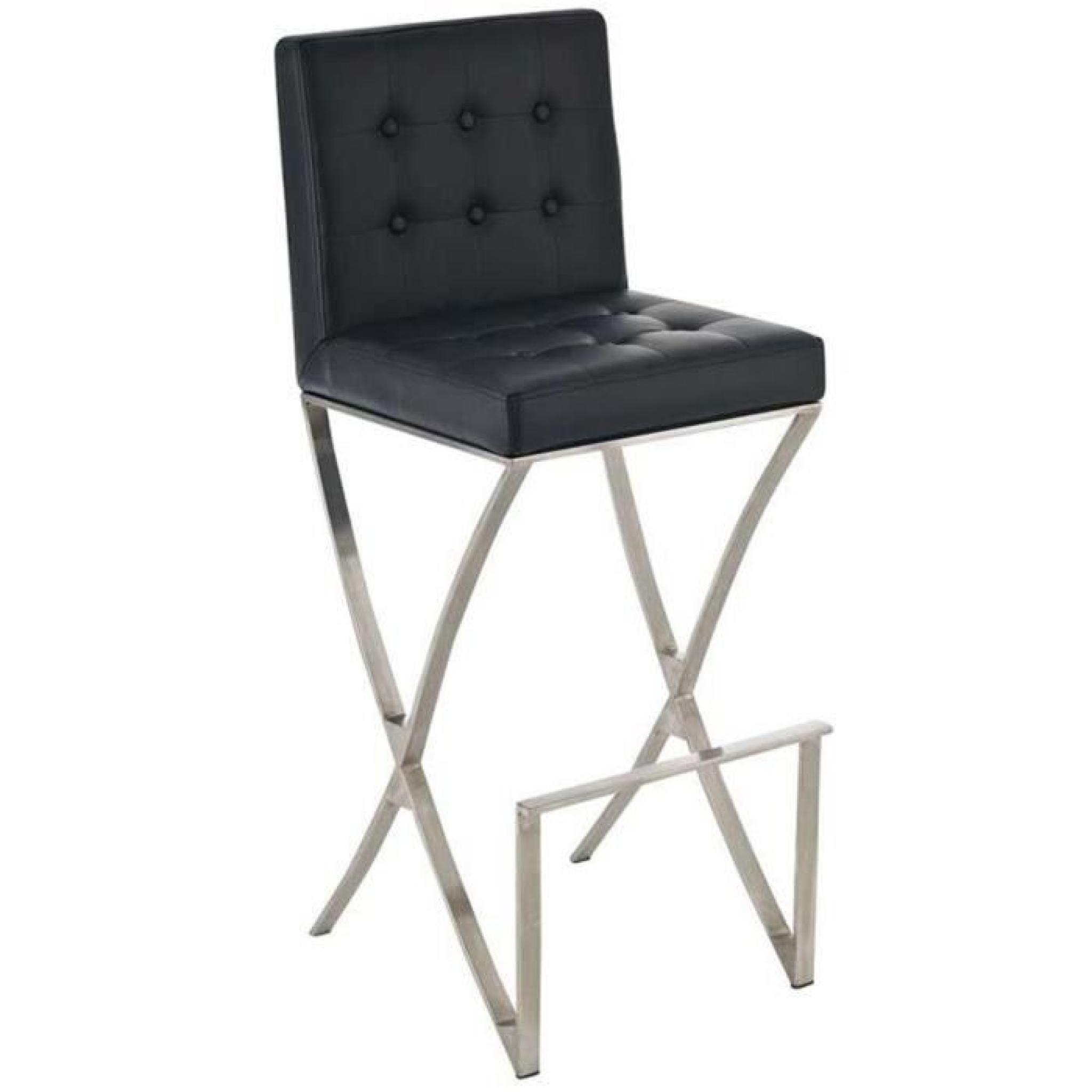 Chaise de bar en acier inoxydable et couverture en PU de ...