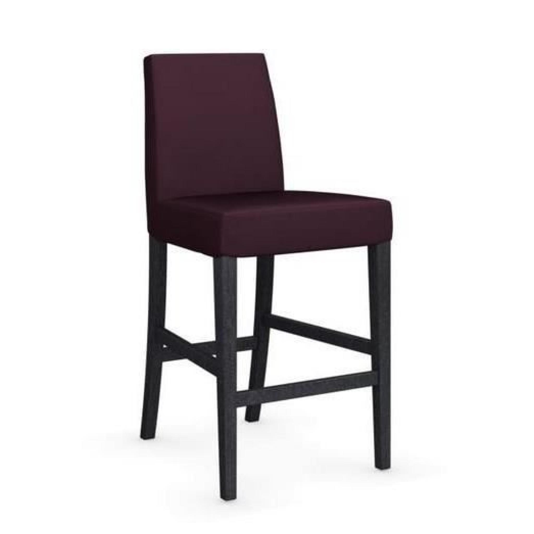 Chaise de bar latina de calligaris aubergine et achat vente tabouret de bar pas cher for Chaise bar couleur