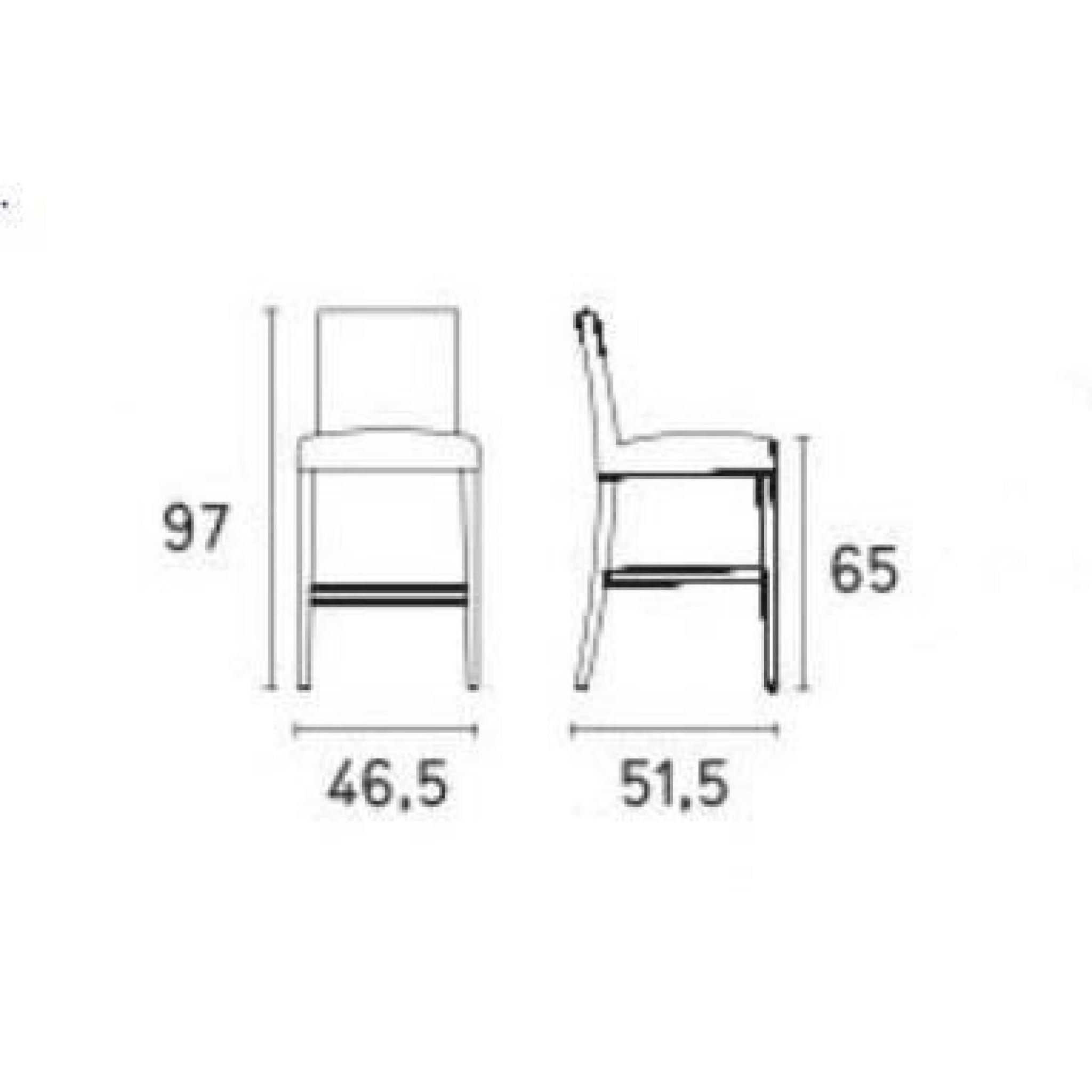 Chaise de bar latina de calligaris couleur gr g achat - Chaise couleur pas cher ...