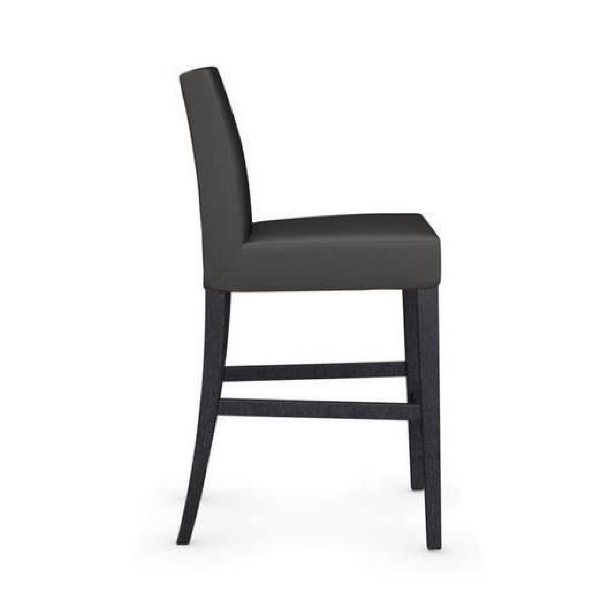 chaise de bar latina de calligaris gris fonc e achat vente tabouret de bar pas cher. Black Bedroom Furniture Sets. Home Design Ideas