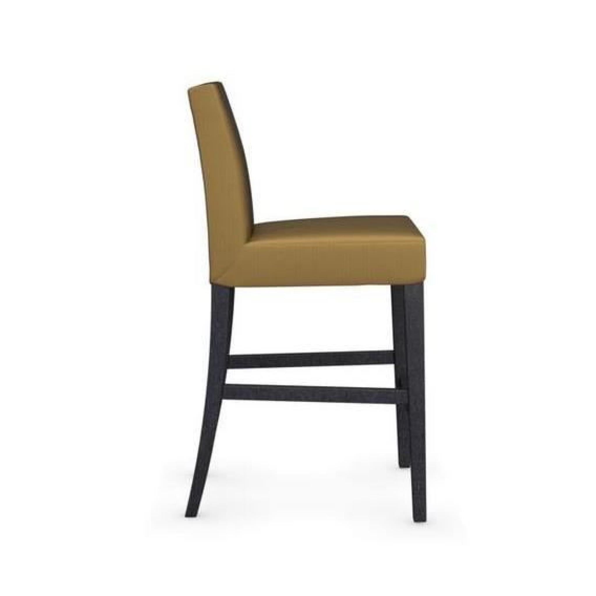 Chaise de bar latina de calligaris jaune moutar achat - Tabouret de cuisine design jaune ...
