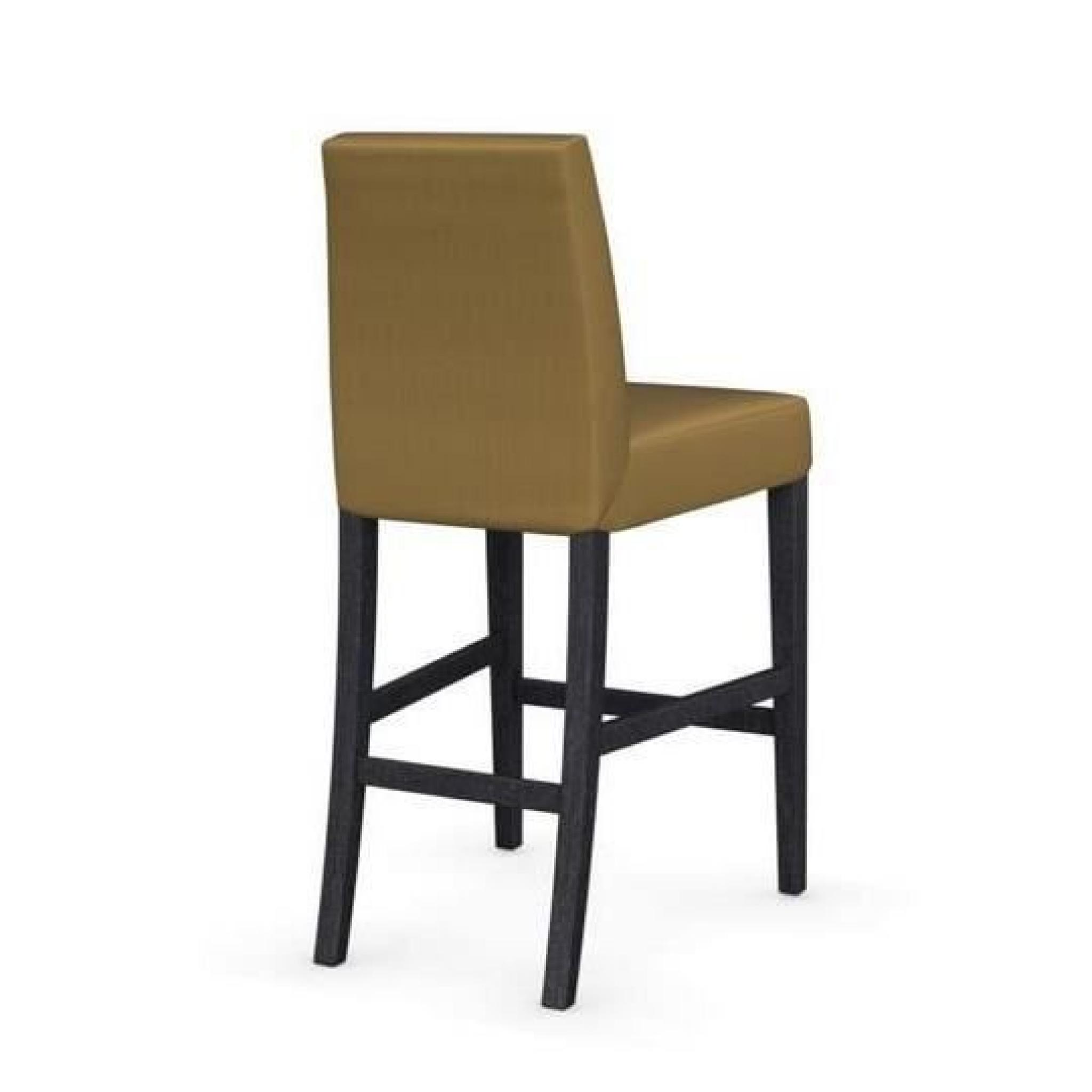 Chaise de bar latina de calligaris jaune moutar achat - Chaise de bar design pas cher ...