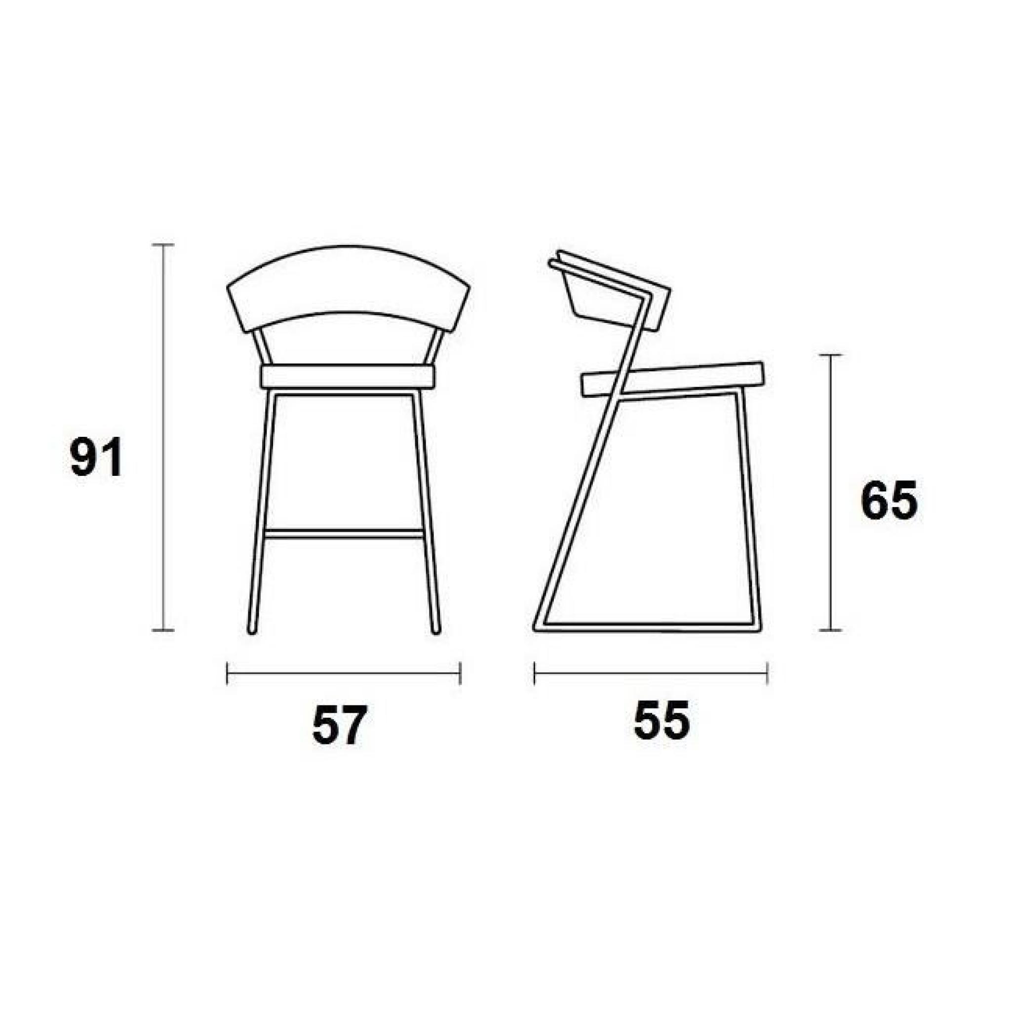 cuir en bar YORK design CALLIGARIS de NEW grège italienne Chaise coloris de KcF1JlT