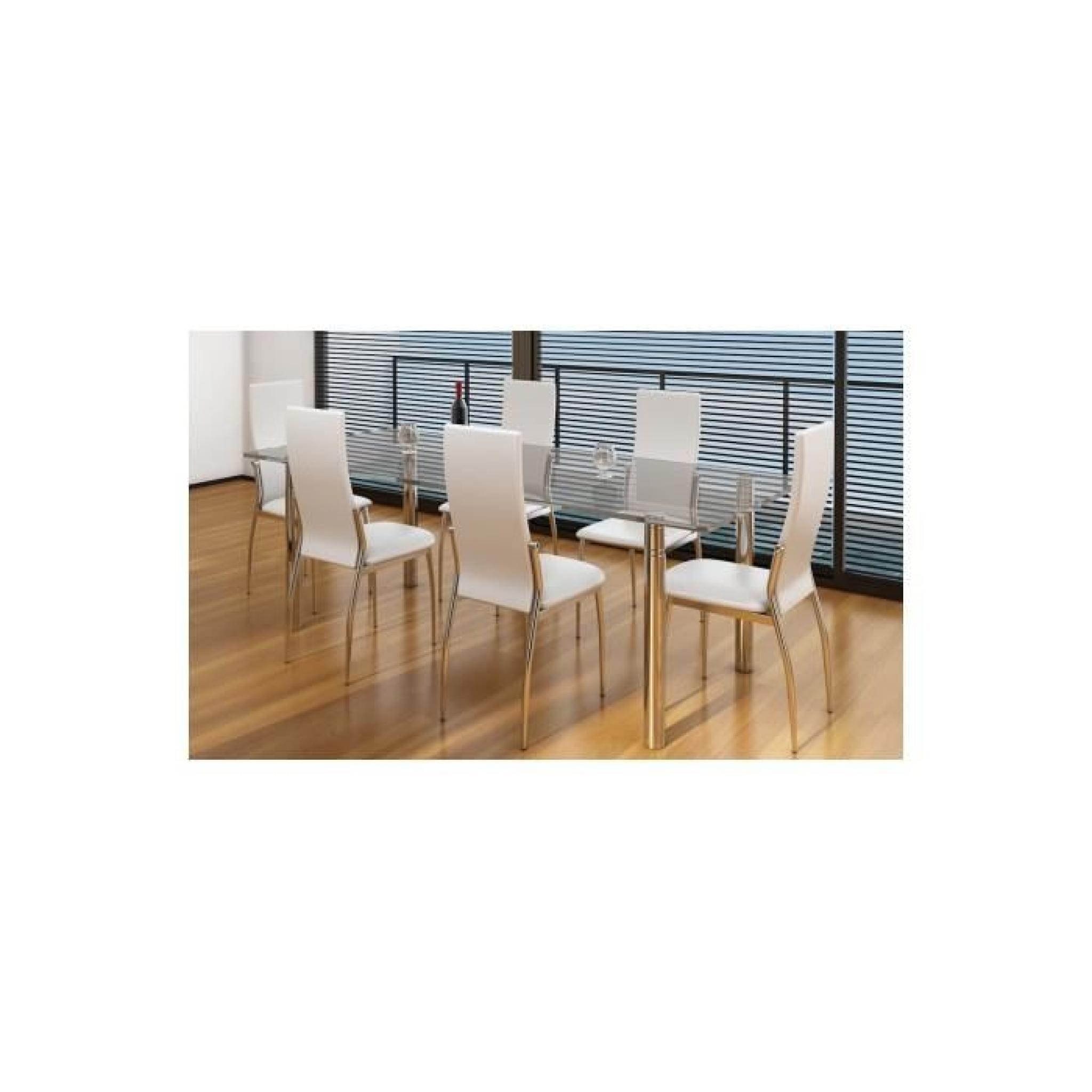 chaise de salle manger alu lot de 6 achat vente. Black Bedroom Furniture Sets. Home Design Ideas
